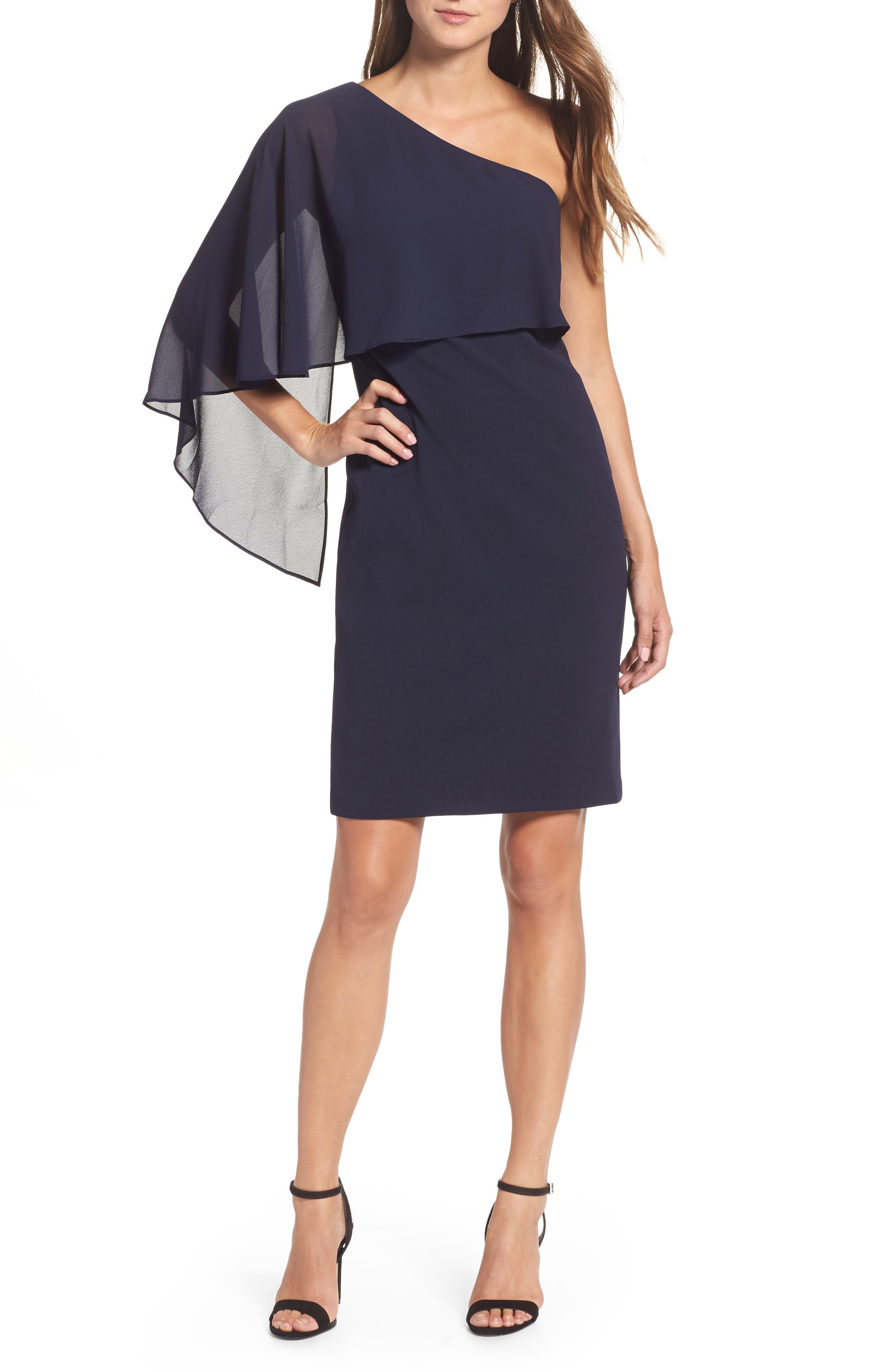 One-Shoulder Sheath Dress,                             Main thumbnail 1, color,