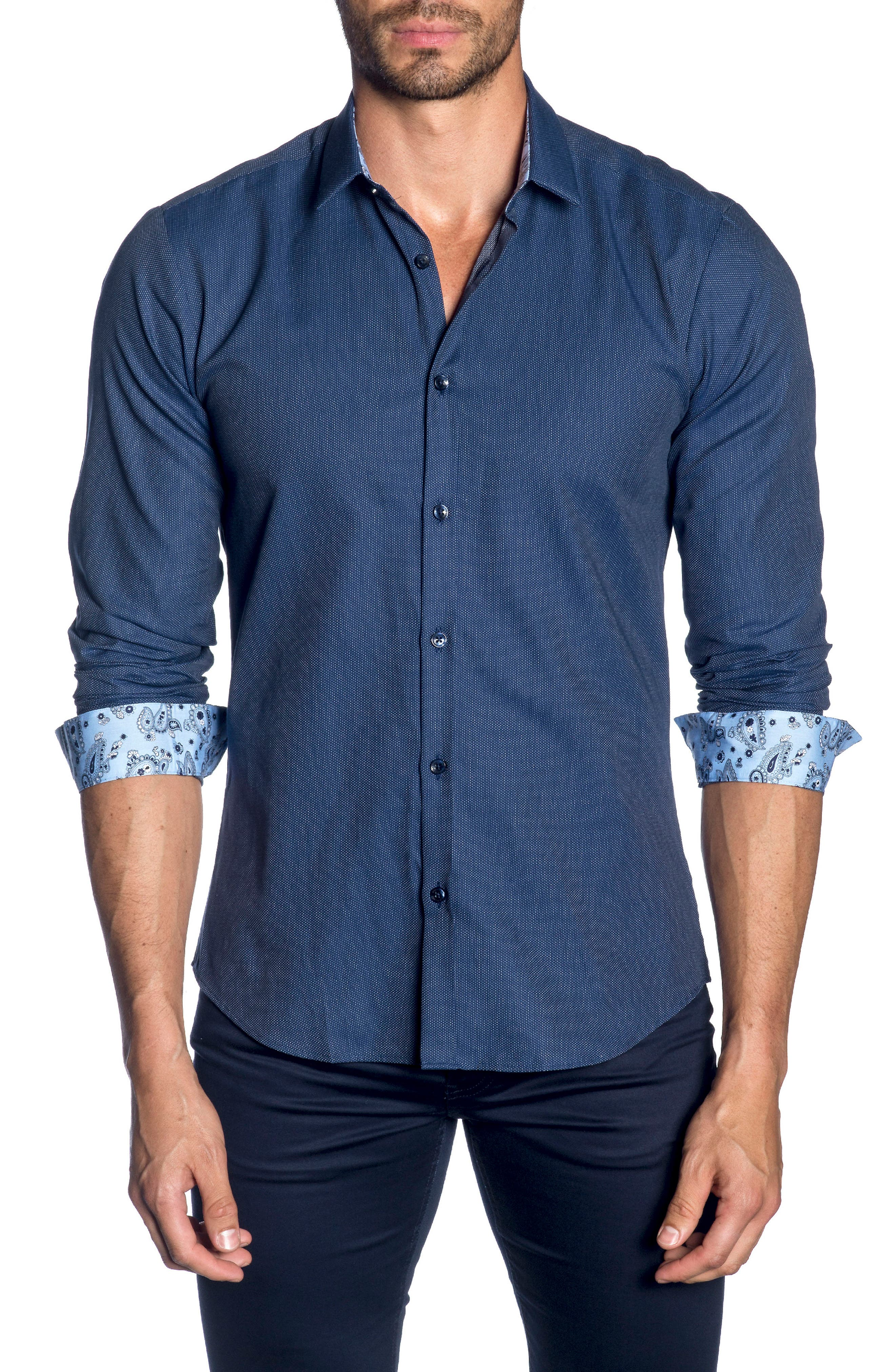 Trim Fit Sport Shirt,                         Main,                         color, 410