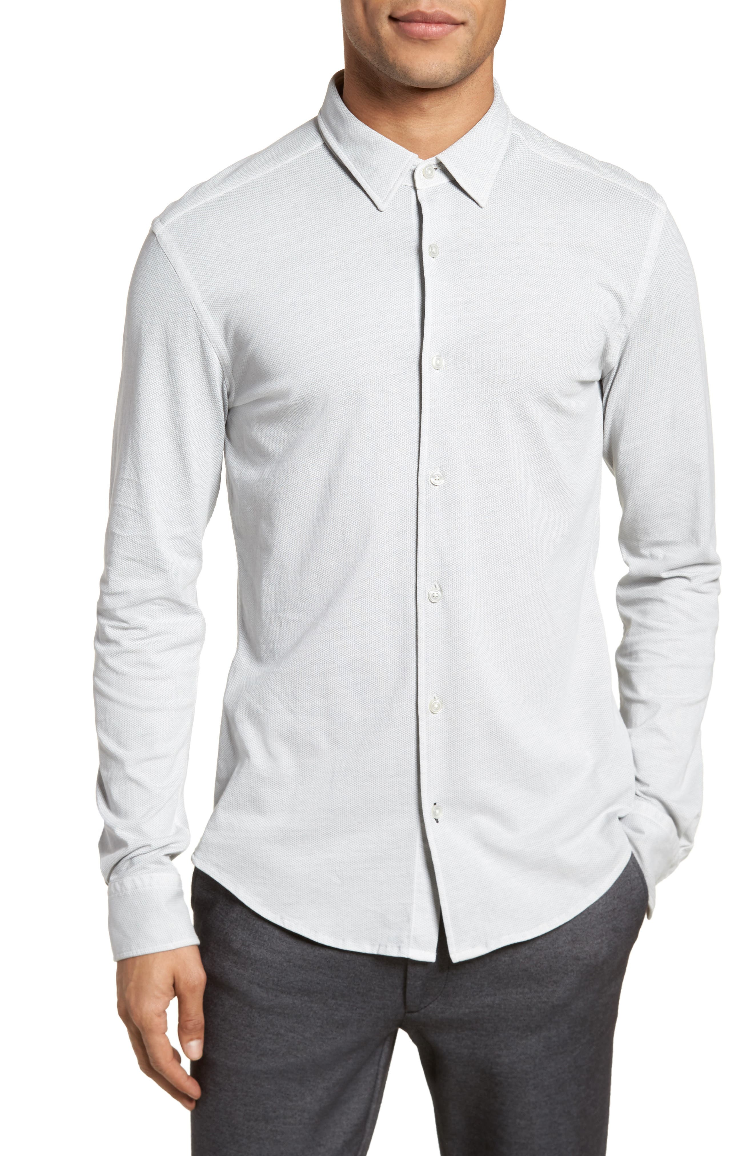 Reid Slim Fit Solid Sport Shirt,                             Main thumbnail 1, color,                             071