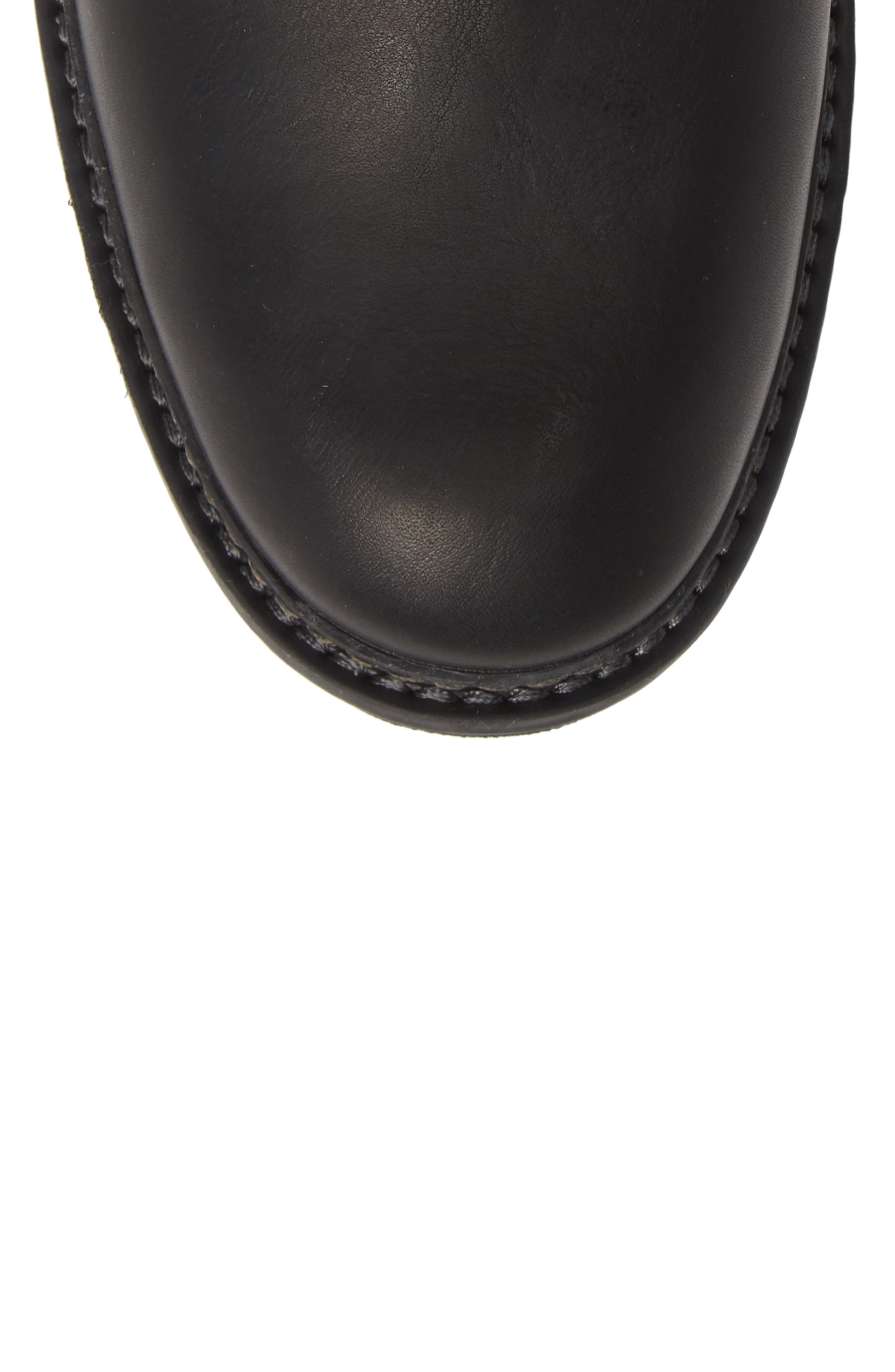 Logan Bay Water Resistant Chelsea Boot,                             Alternate thumbnail 5, color,                             BLACK LEATHER