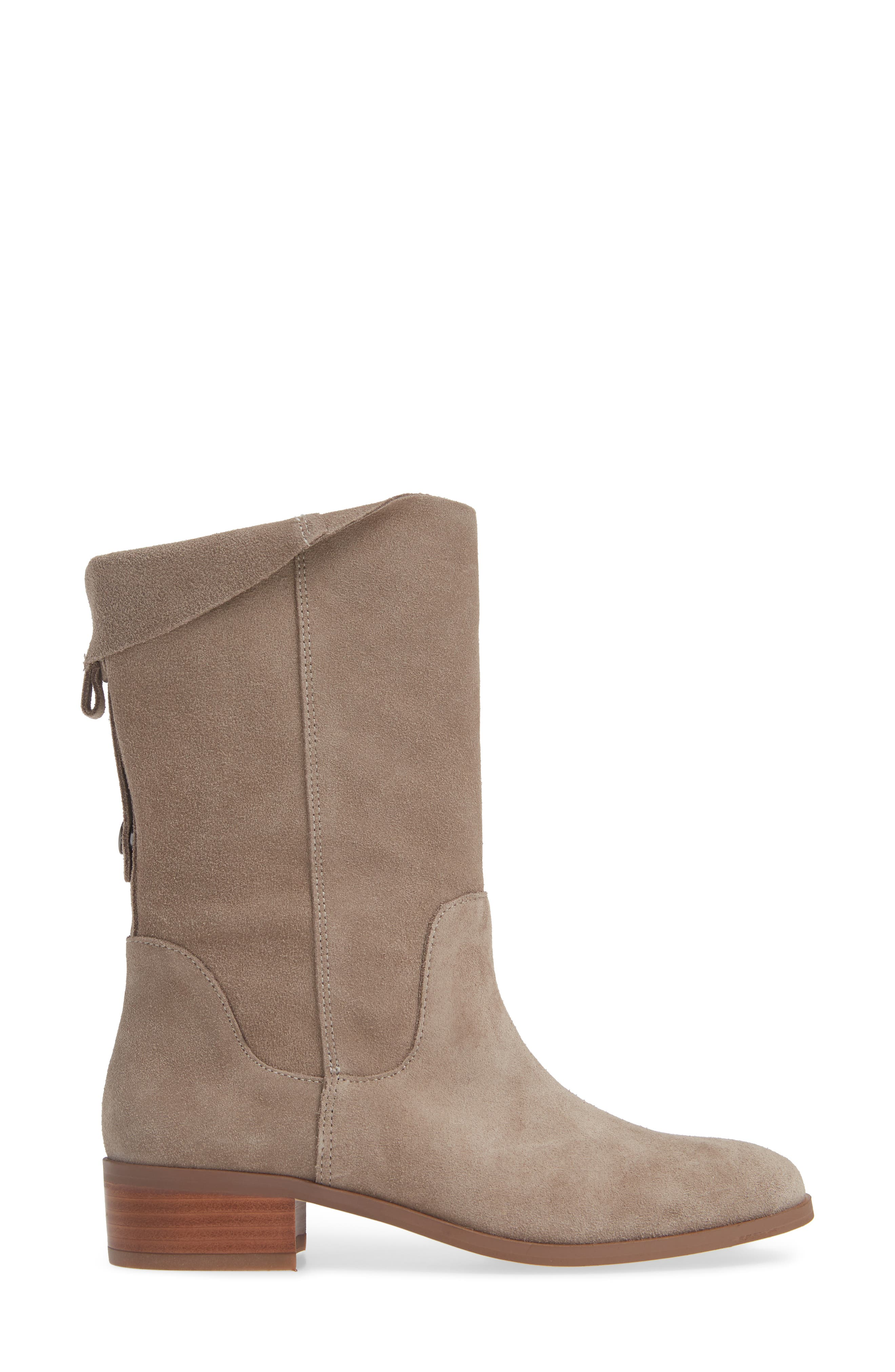 Calanth Bootie,                             Alternate thumbnail 3, color,                             MUSHROOM SUEDE