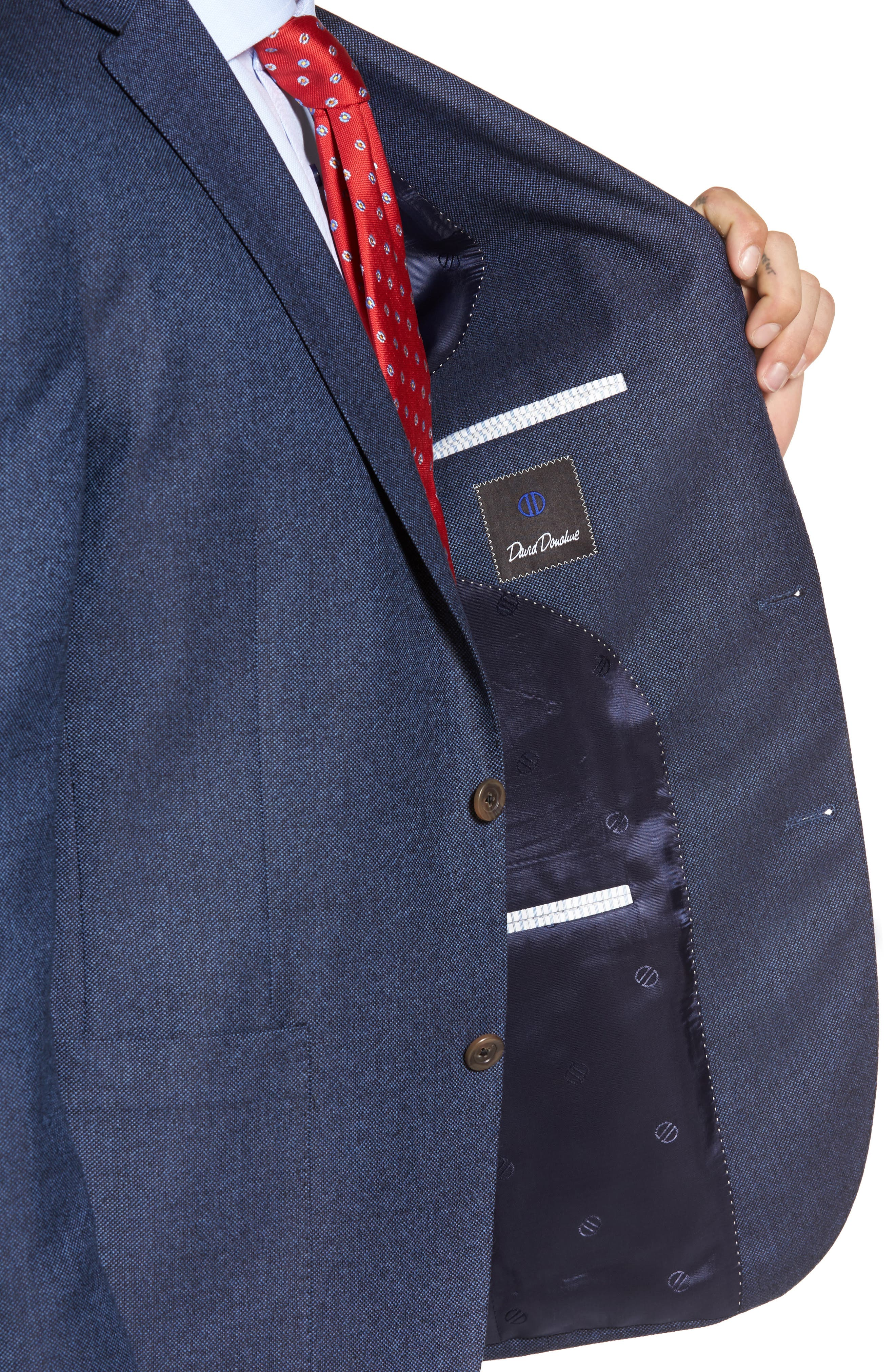 Aiden Classic Fit Wool Blazer,                             Alternate thumbnail 4, color,                             400