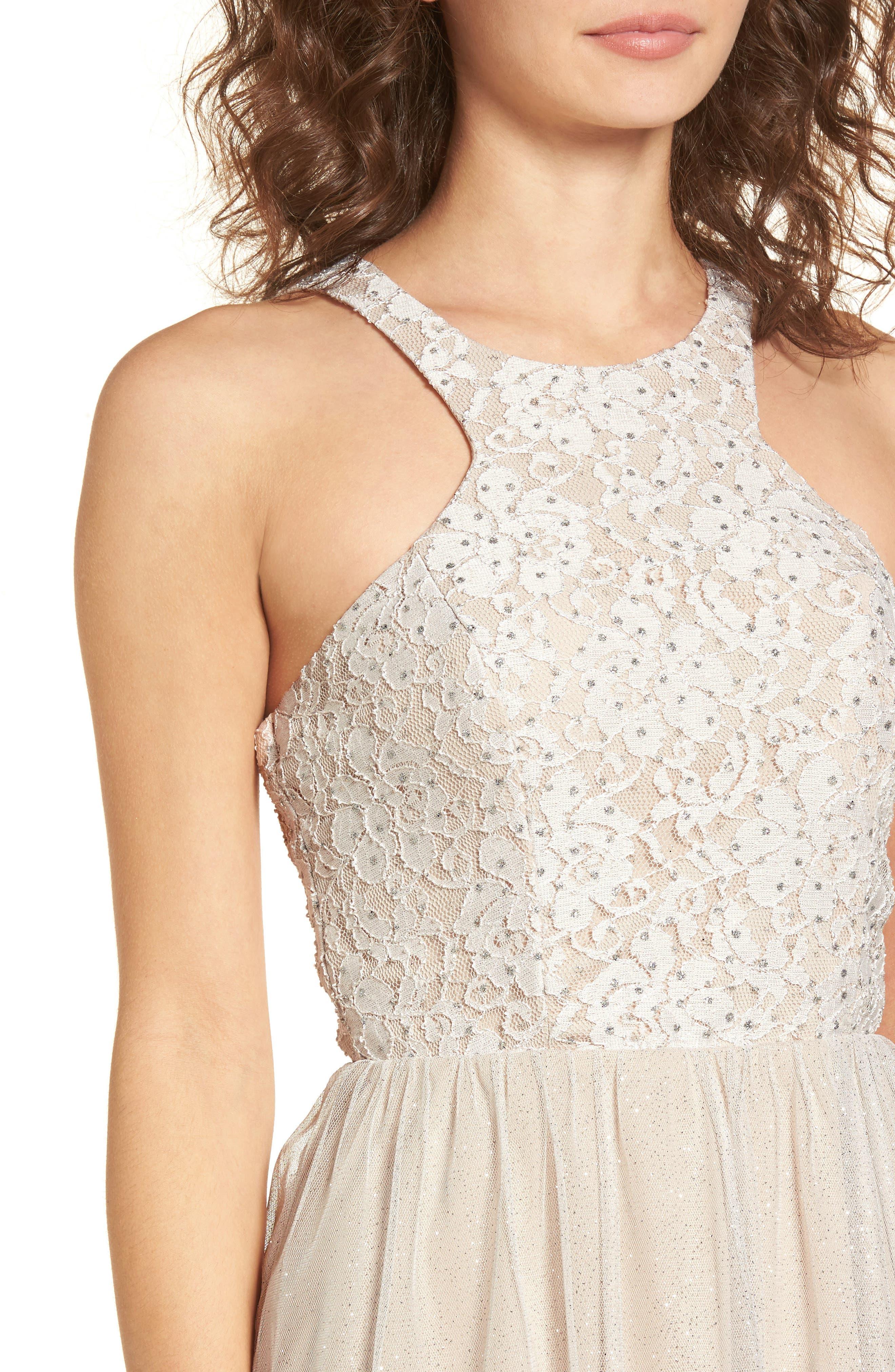 Glitter Tulle Dress,                             Alternate thumbnail 4, color,                             681