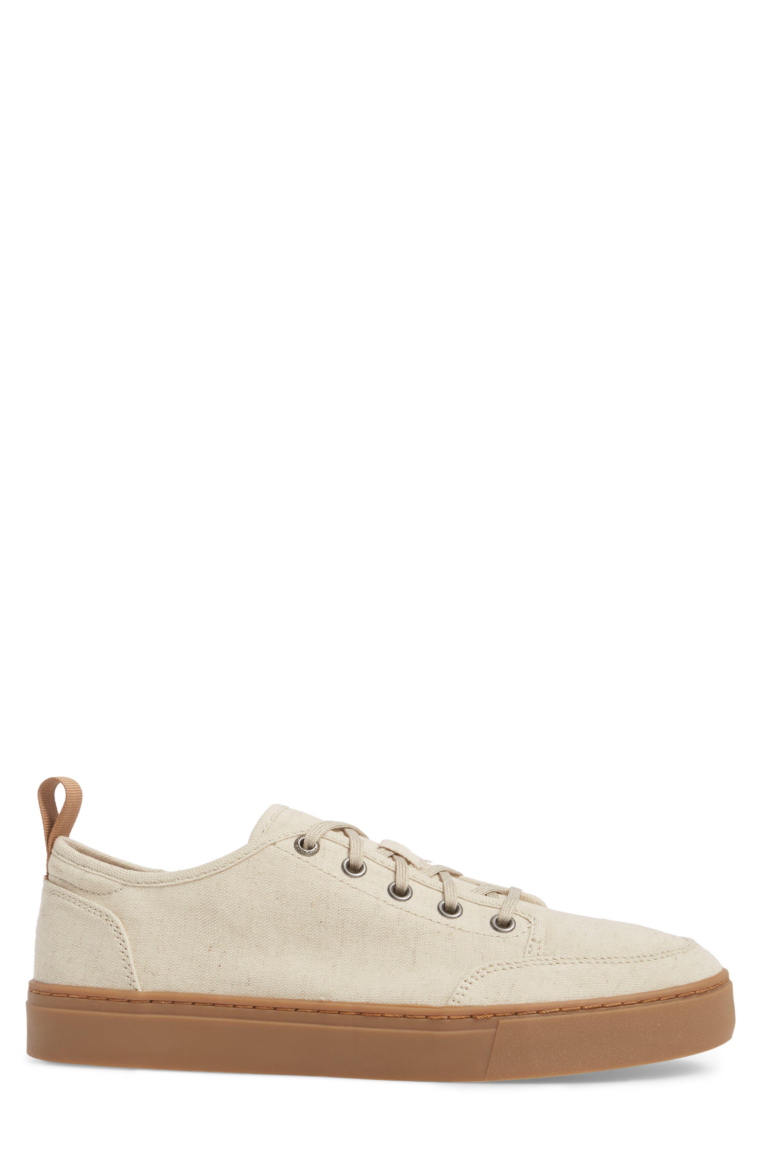 Landen Low Top Sneaker,                             Alternate thumbnail 3, color,                             NATURAL HEMP/ GUM