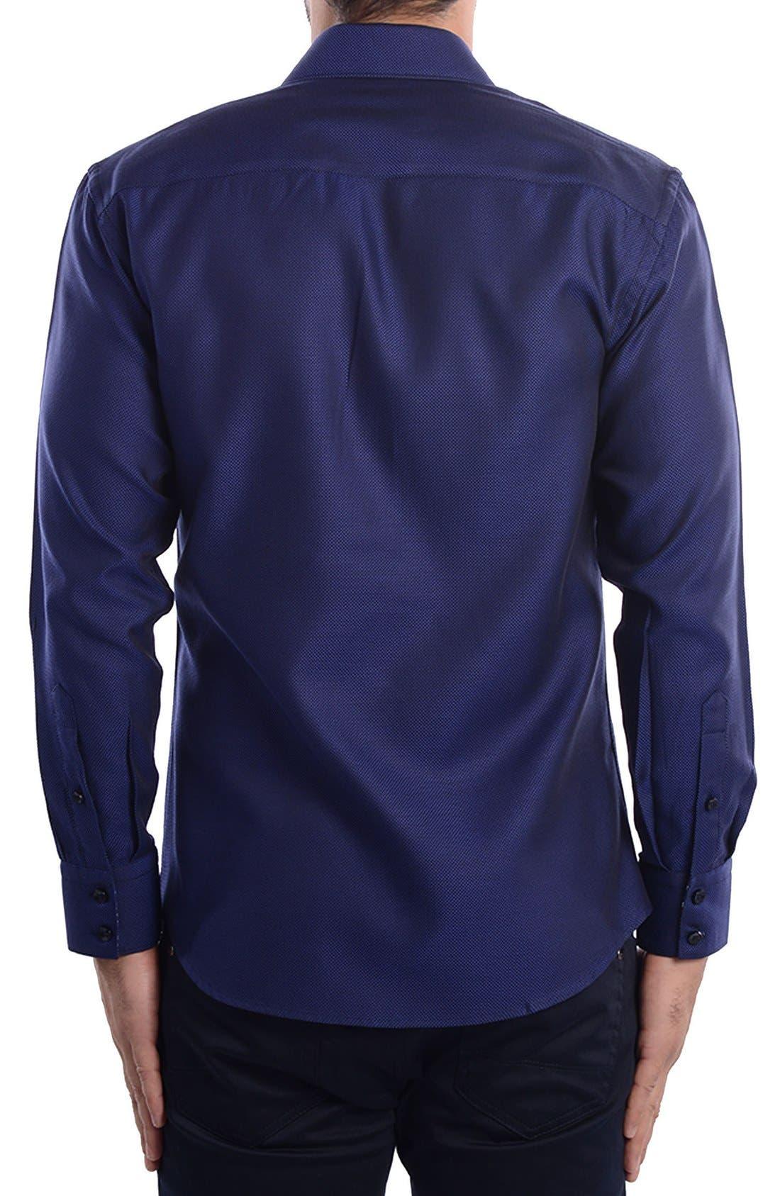 White Arrow Dobby Modern Fit Sport Shirt,                             Alternate thumbnail 5, color,