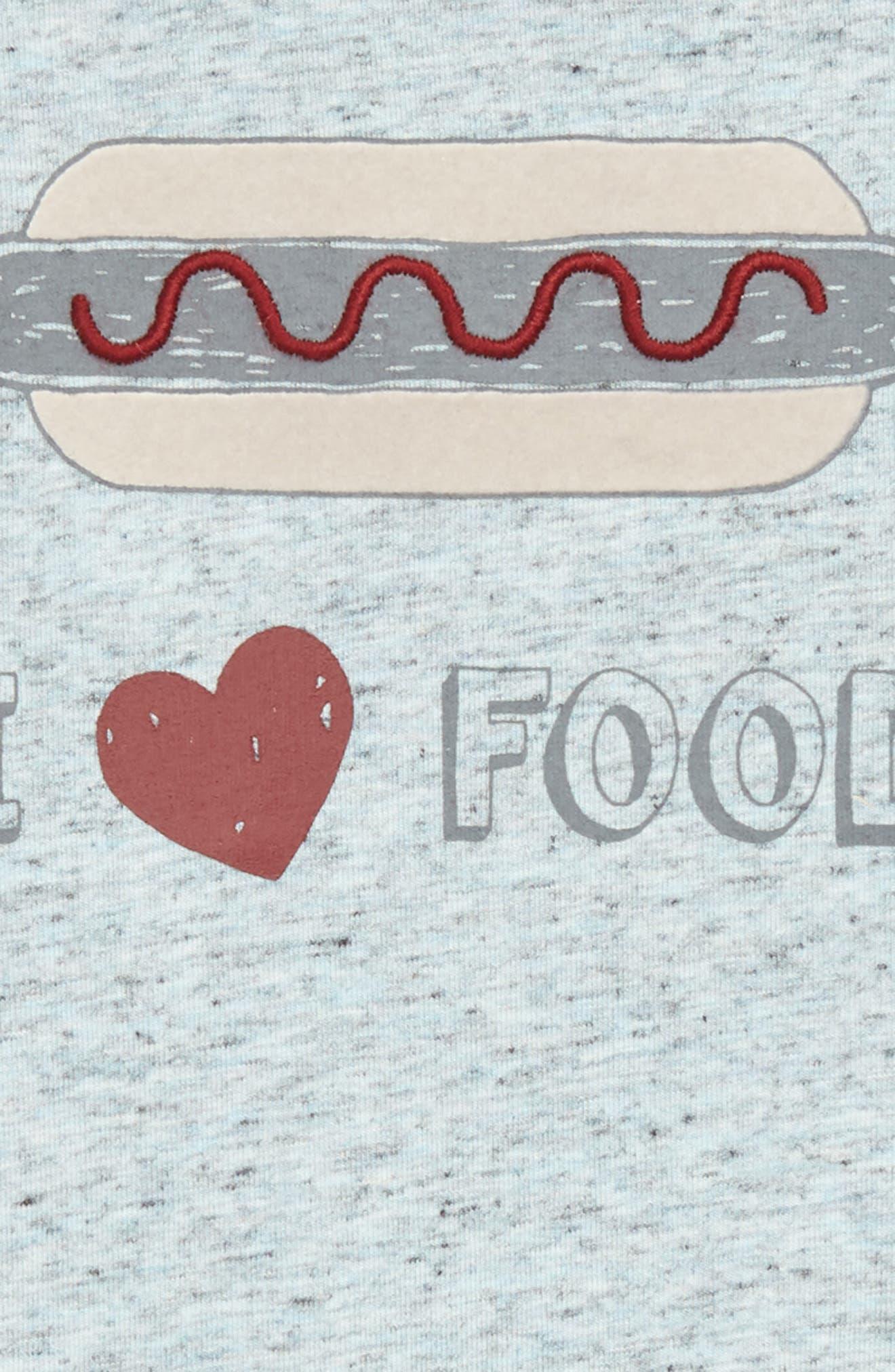 I Love Food Romper,                             Alternate thumbnail 2, color,                             420