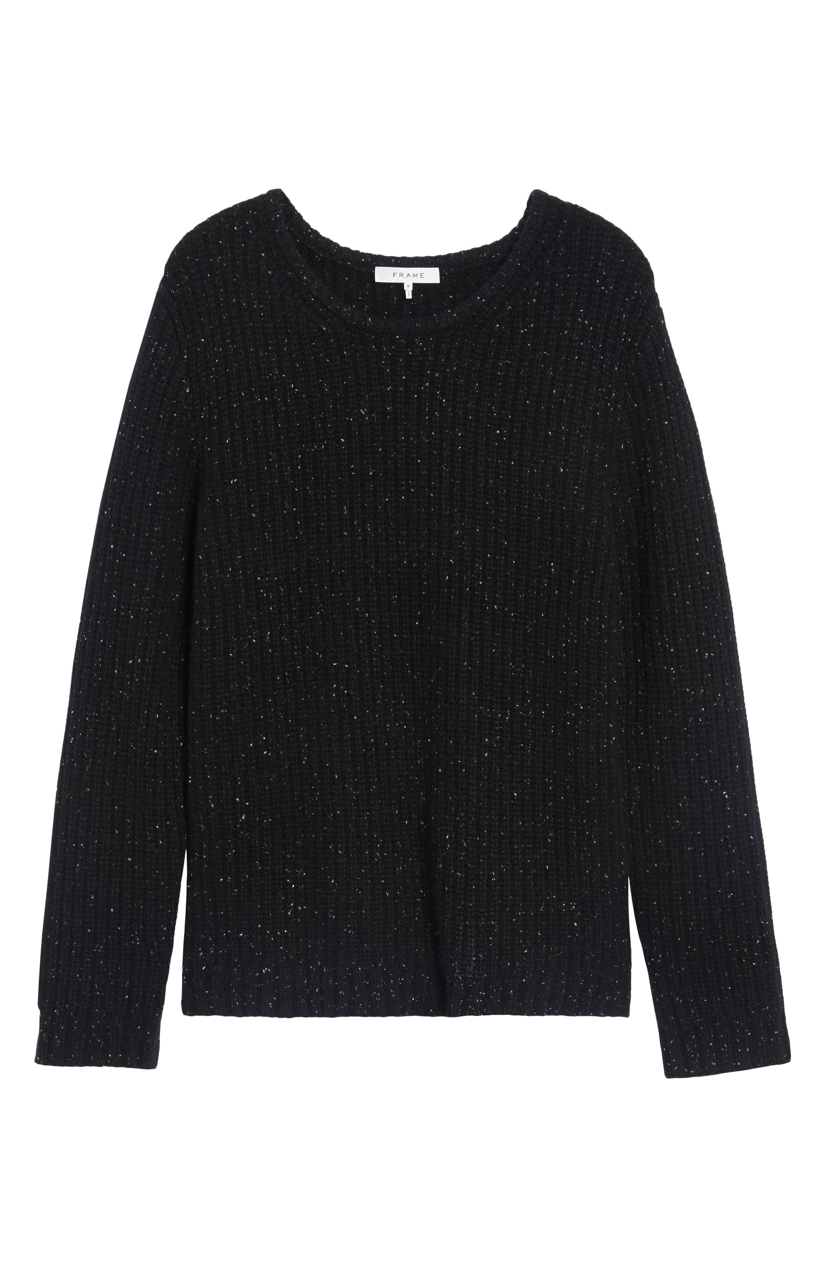 Oversize Cashmere Sweater,                             Alternate thumbnail 6, color,                             001