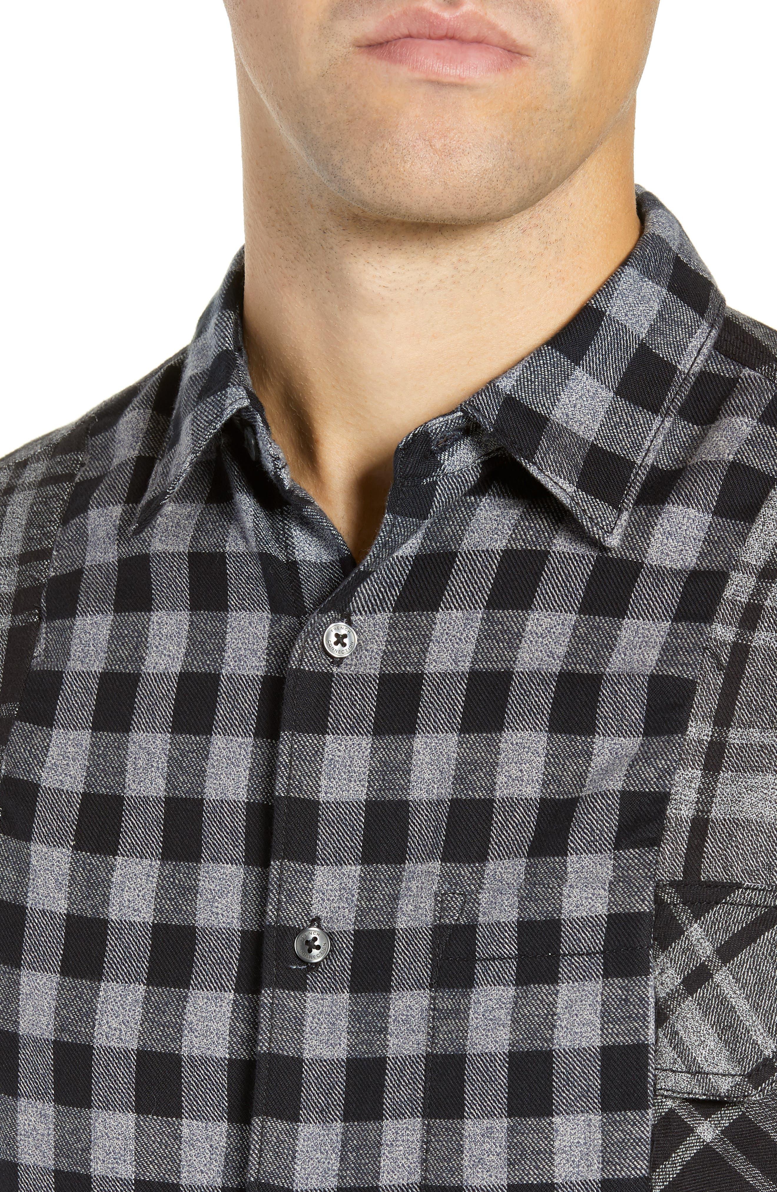 Bits & Pieces Loose Fit Sport Shirt,                             Alternate thumbnail 2, color,                             BLACK CHECKS