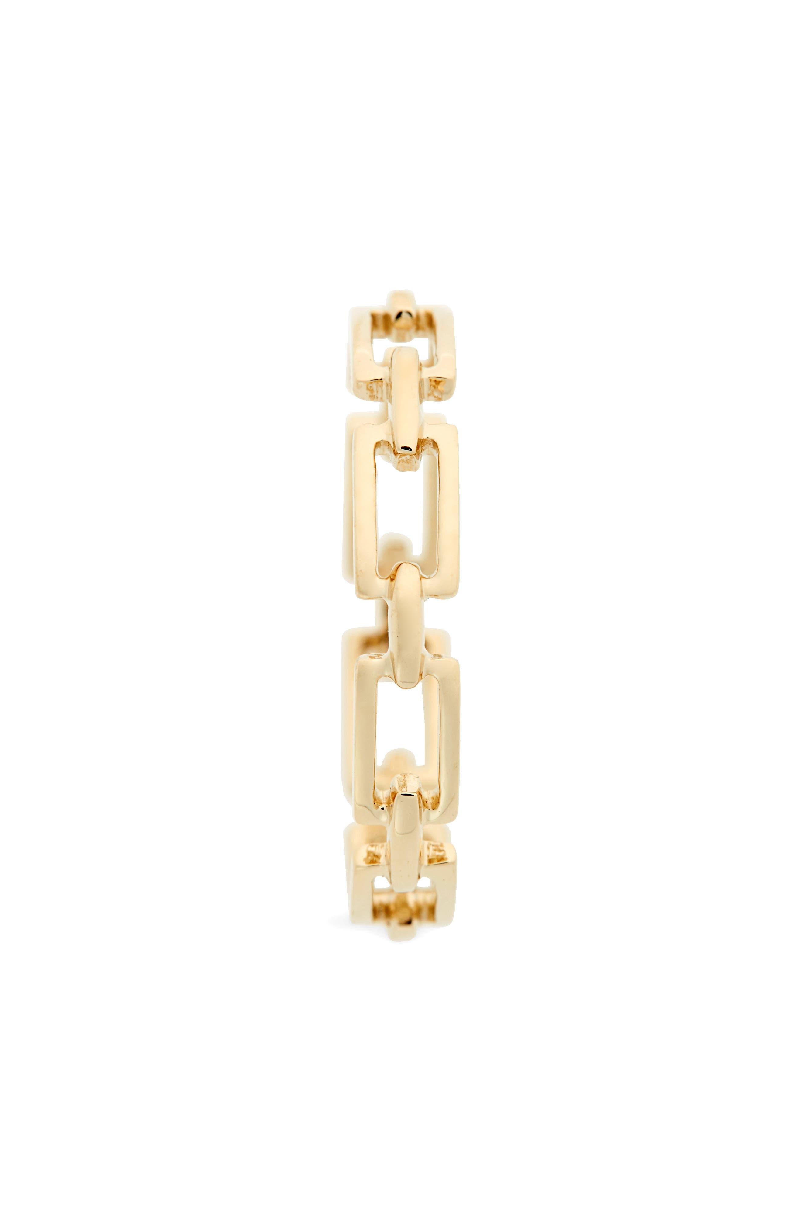 14-Karat Gold Link Stacking Ring,                             Alternate thumbnail 2, color,                             YELLOW GOLD