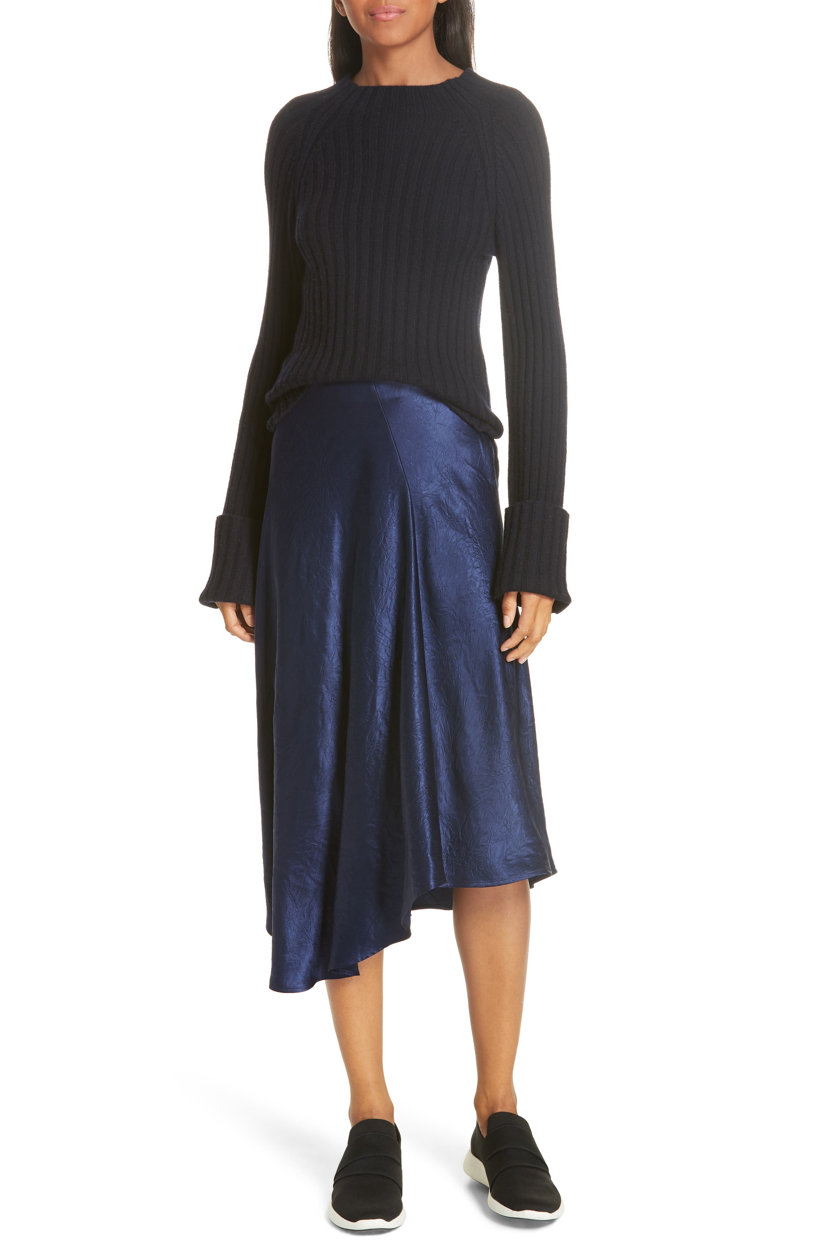 Button Cuff Wool & Cashmere Sweater, Main, color, 403
