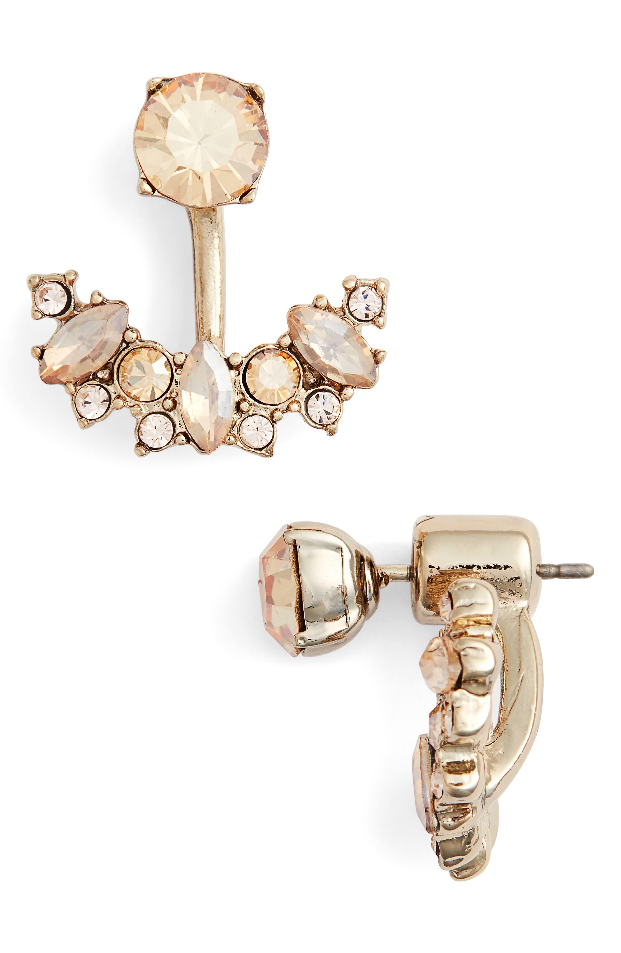 Stone Floater Earrings,                             Main thumbnail 1, color,                             GOLD