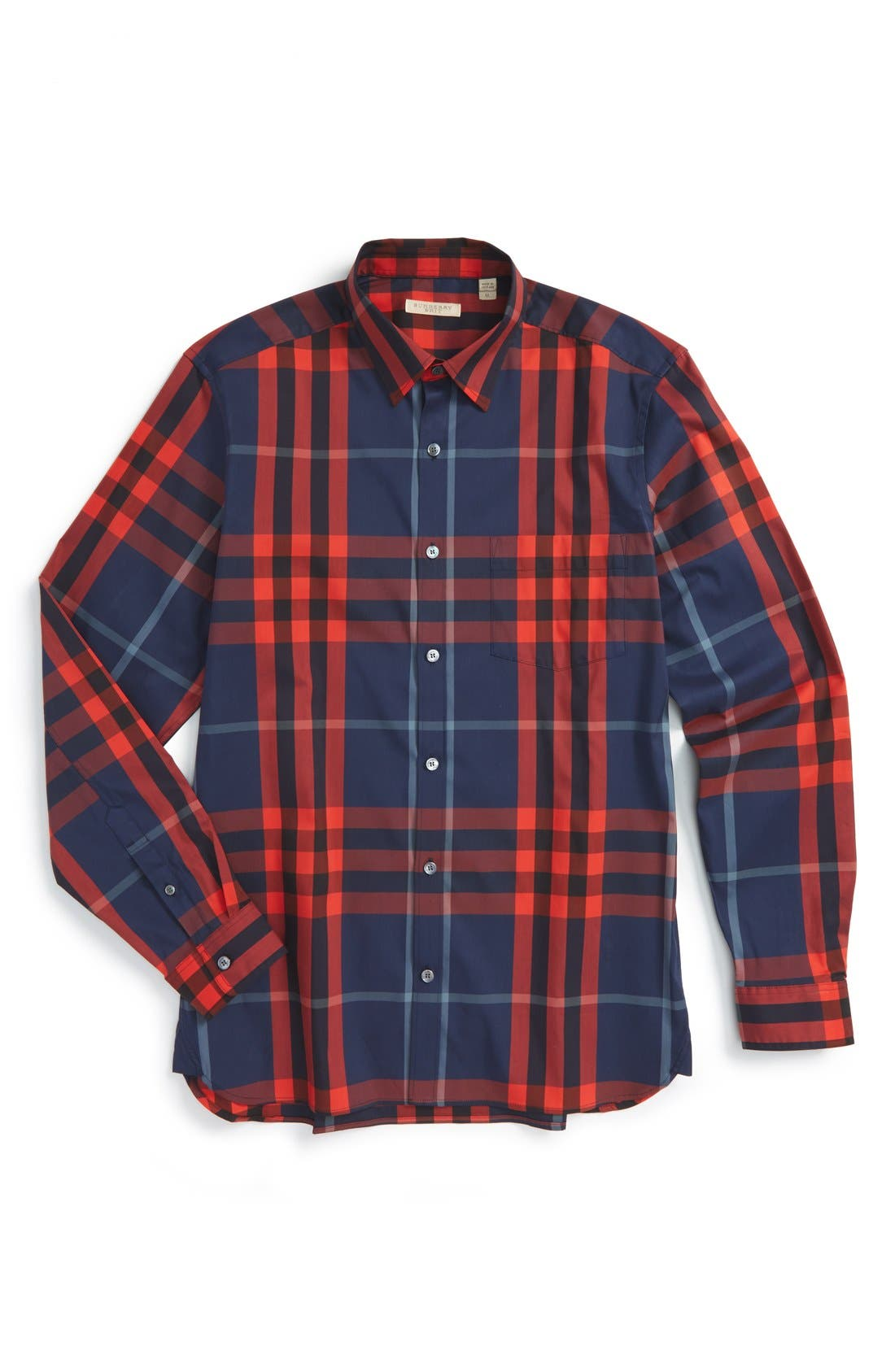 Nelson Check Sport Shirt,                             Alternate thumbnail 122, color,