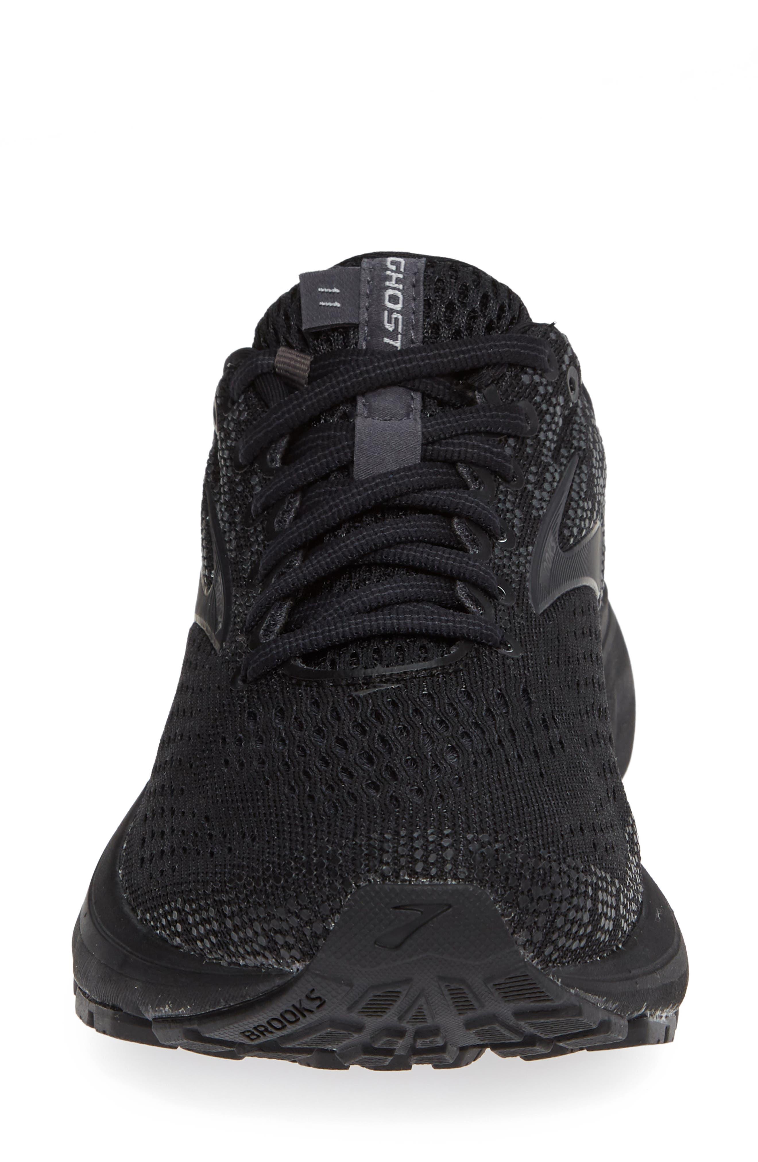 Ghost 11 Running Shoe,                             Alternate thumbnail 4, color,                             BLACK/ EBONY