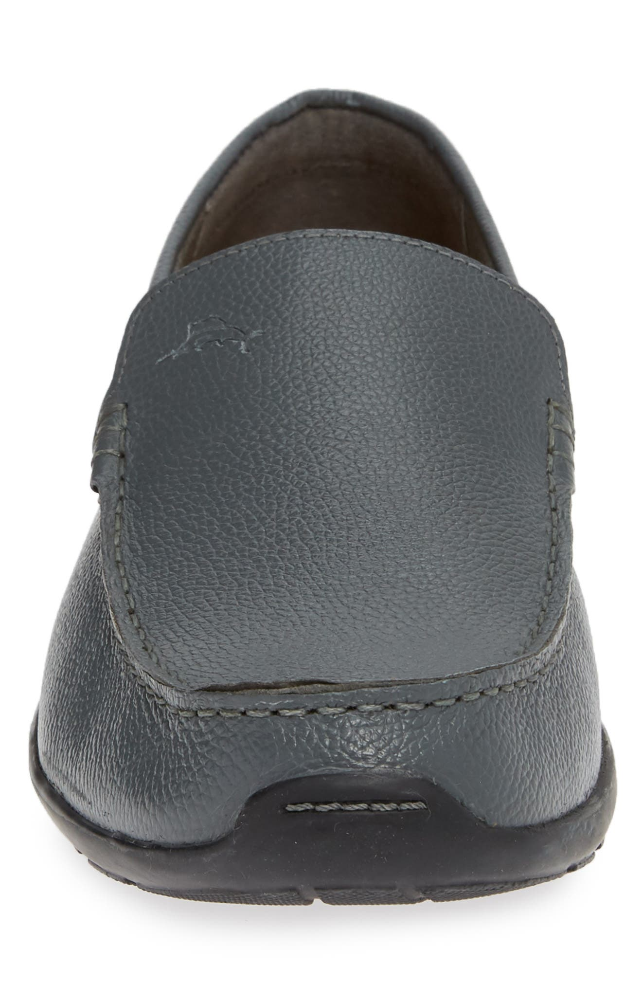 Orion Venetian Loafer,                             Alternate thumbnail 4, color,                             GREY TUMBLED LEATHER