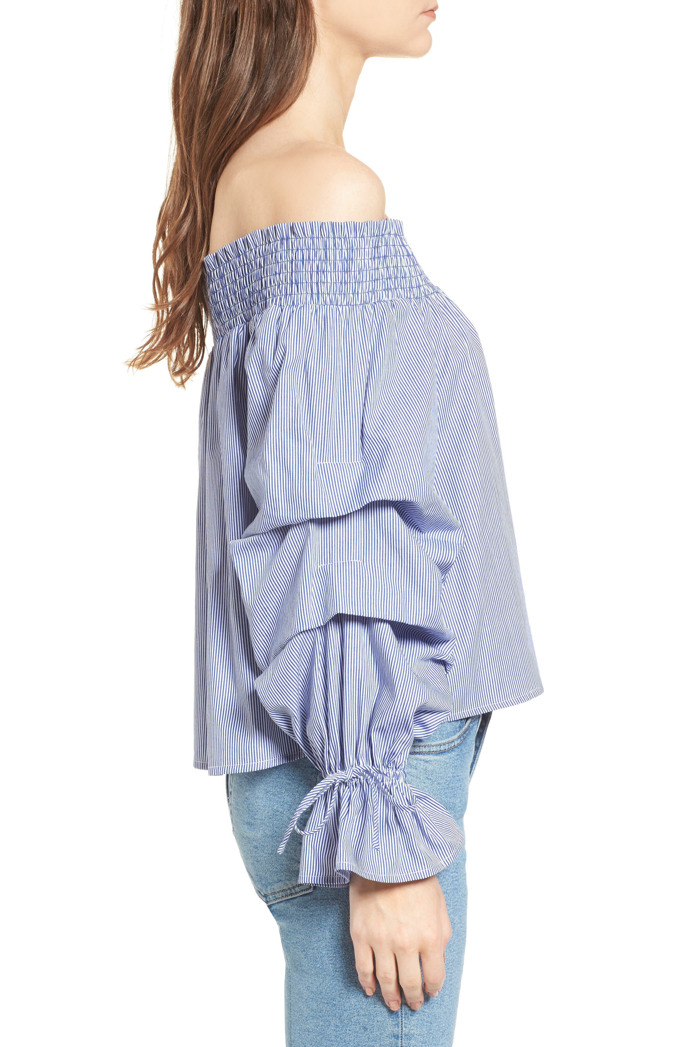 Nicola Off the Shoulder Top,                             Alternate thumbnail 3, color,                             426