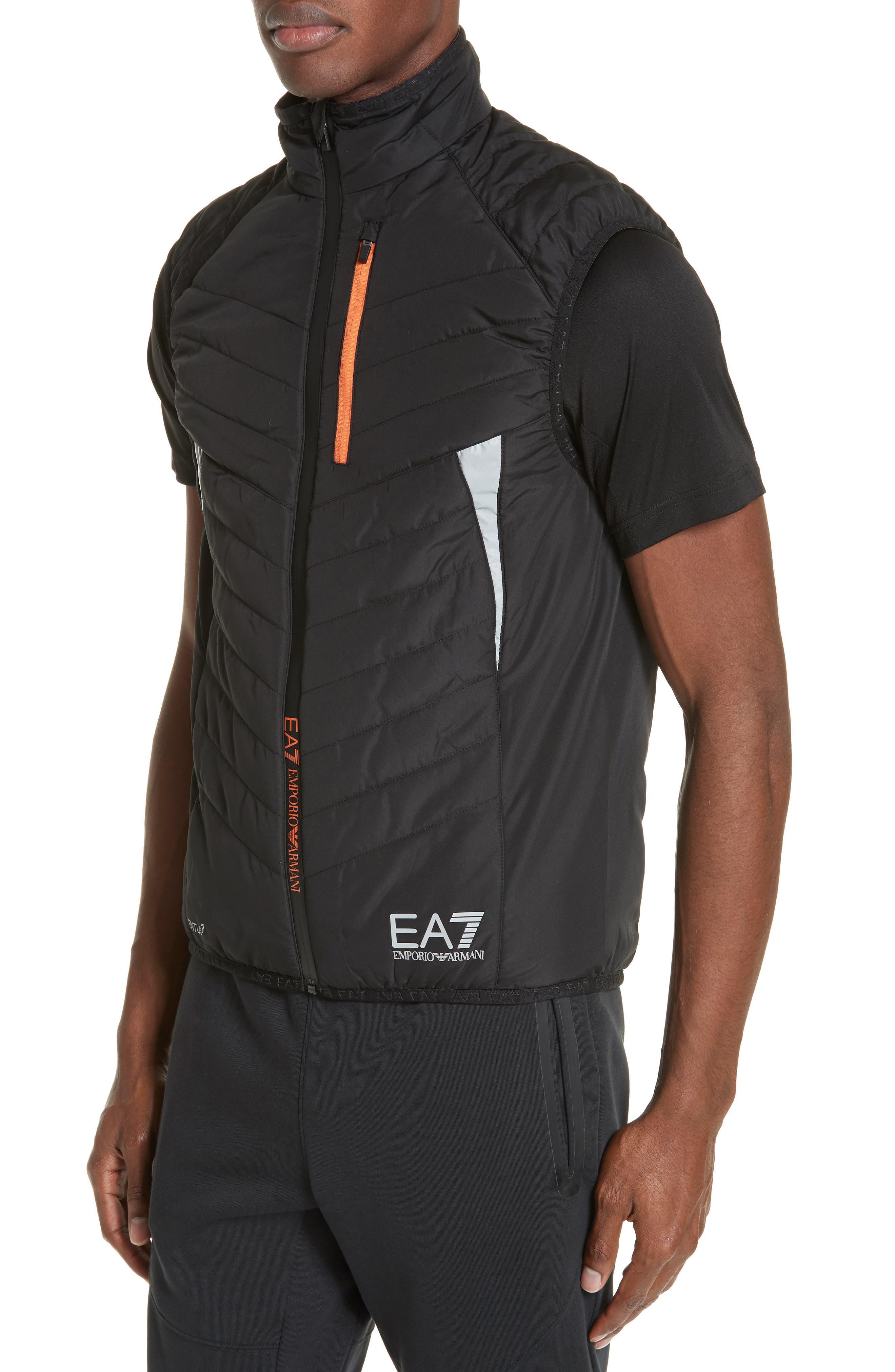 Water Resistant Vest,                             Alternate thumbnail 4, color,                             BLACK