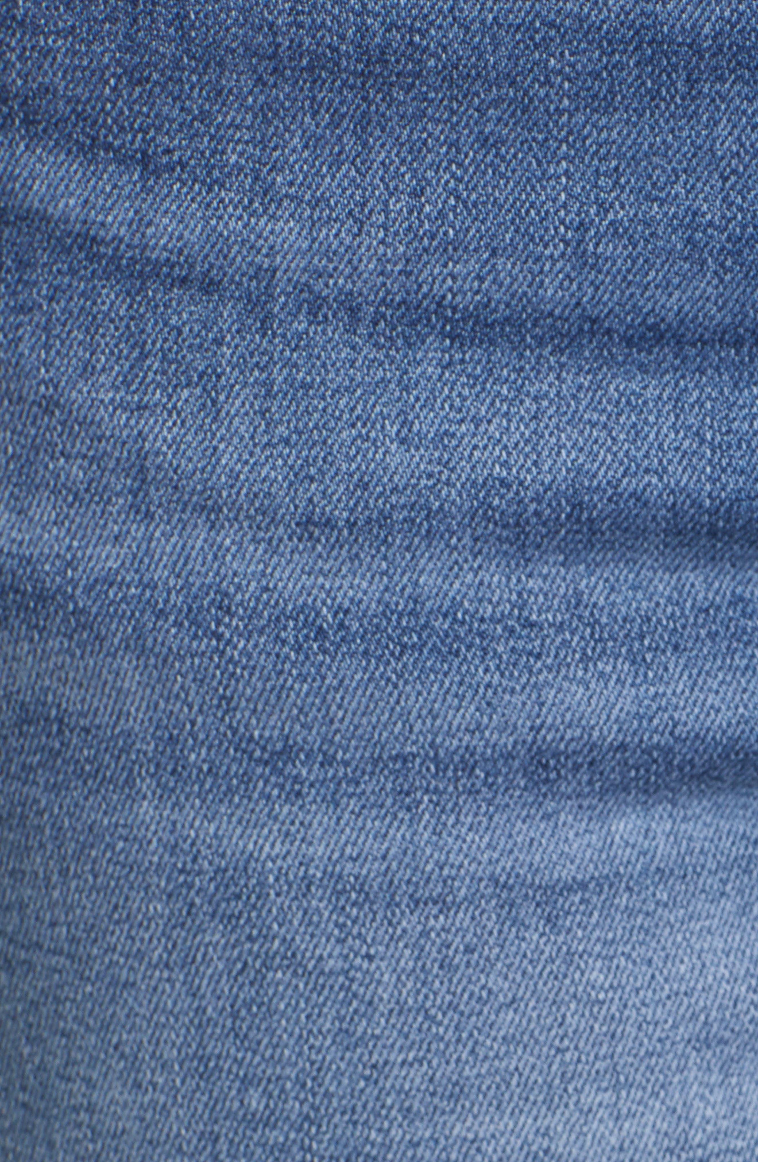 Crop Skinny Jeans,                             Alternate thumbnail 6, color,                             MEDIUM WASH