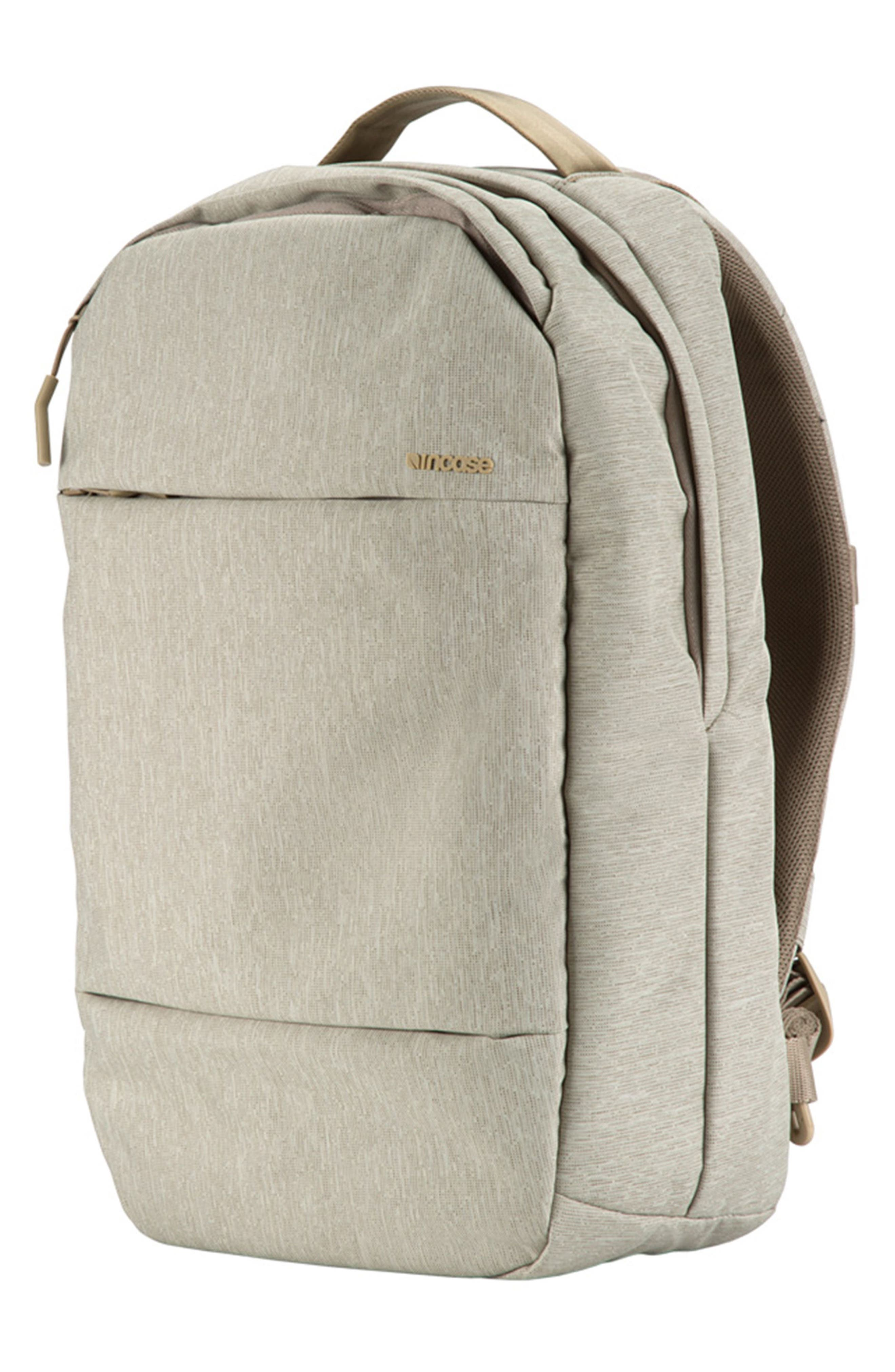 City Compact Backpack,                             Alternate thumbnail 4, color,                             HEATHER KHAKI
