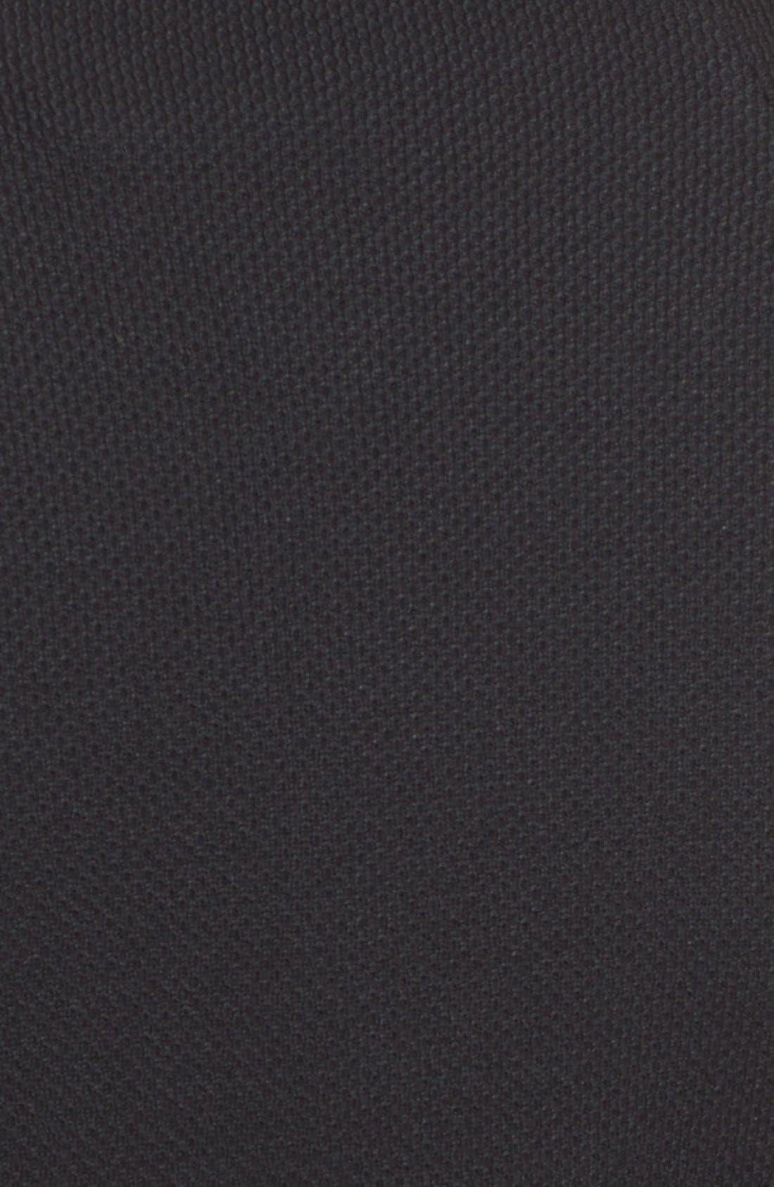 Milano Piqué Knit Jacket,                             Alternate thumbnail 3, color,                             CAVIAR