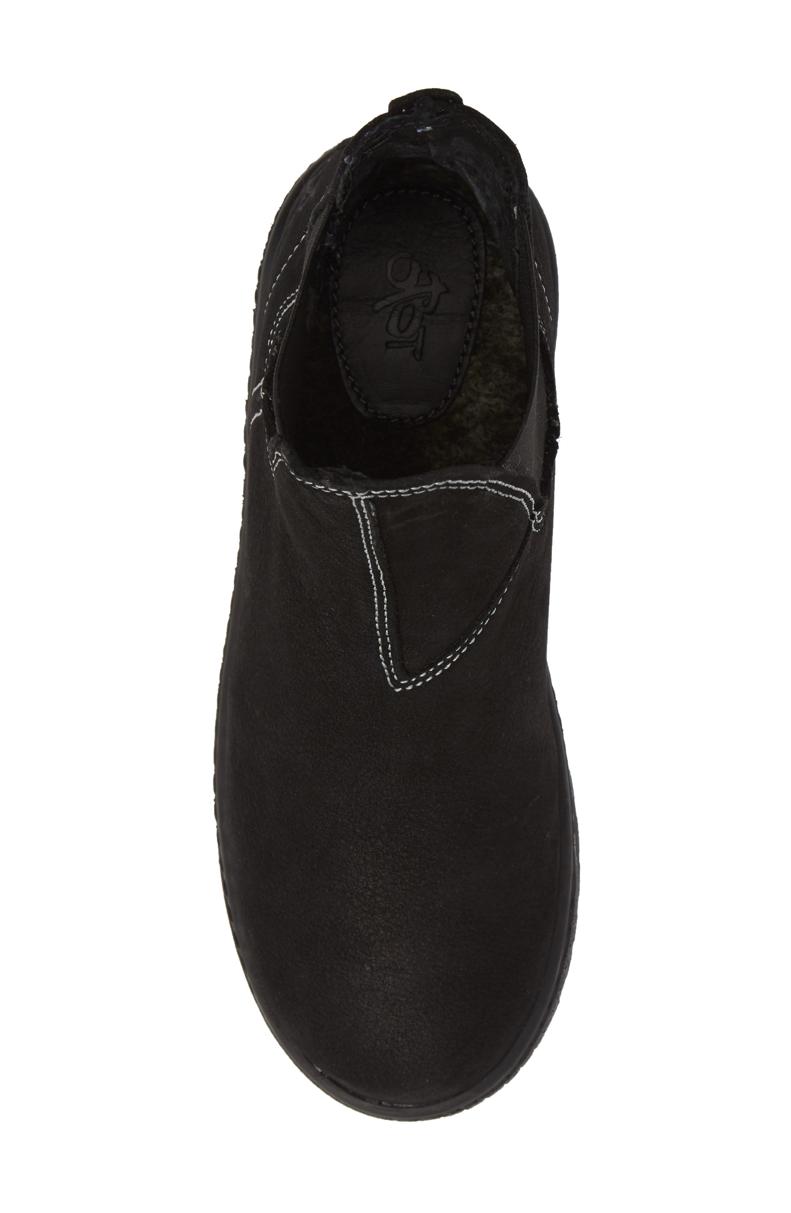Embark Chelsea Bootie,                             Alternate thumbnail 5, color,                             BLACK LEATHER