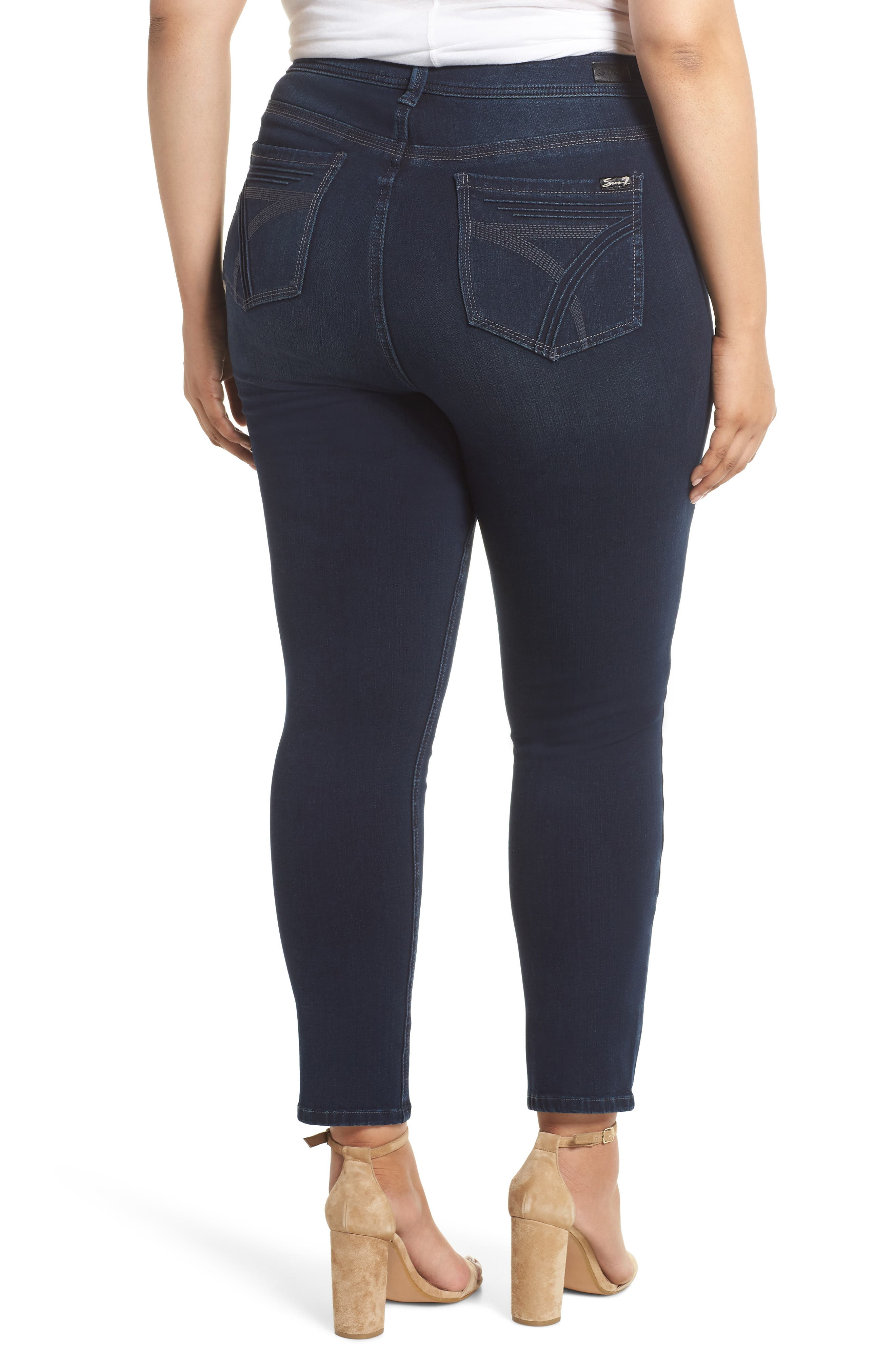 Tummyless Skinny Jeans,                             Alternate thumbnail 2, color,                             JE TAIME