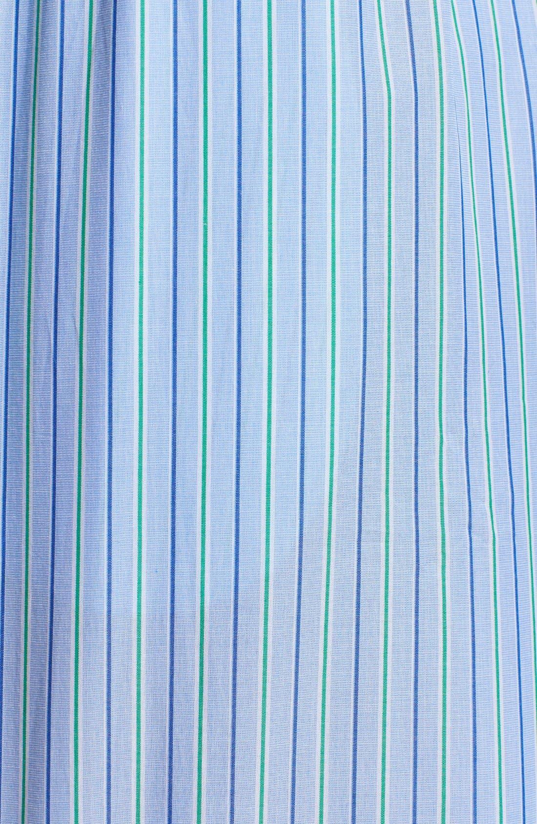 Cotton Pajama Top,                             Alternate thumbnail 7, color,                             BARI STRIPE