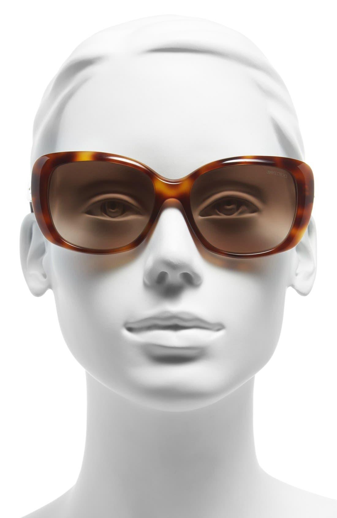 56mm Sunglasses,                             Alternate thumbnail 4, color,                             HAVANA