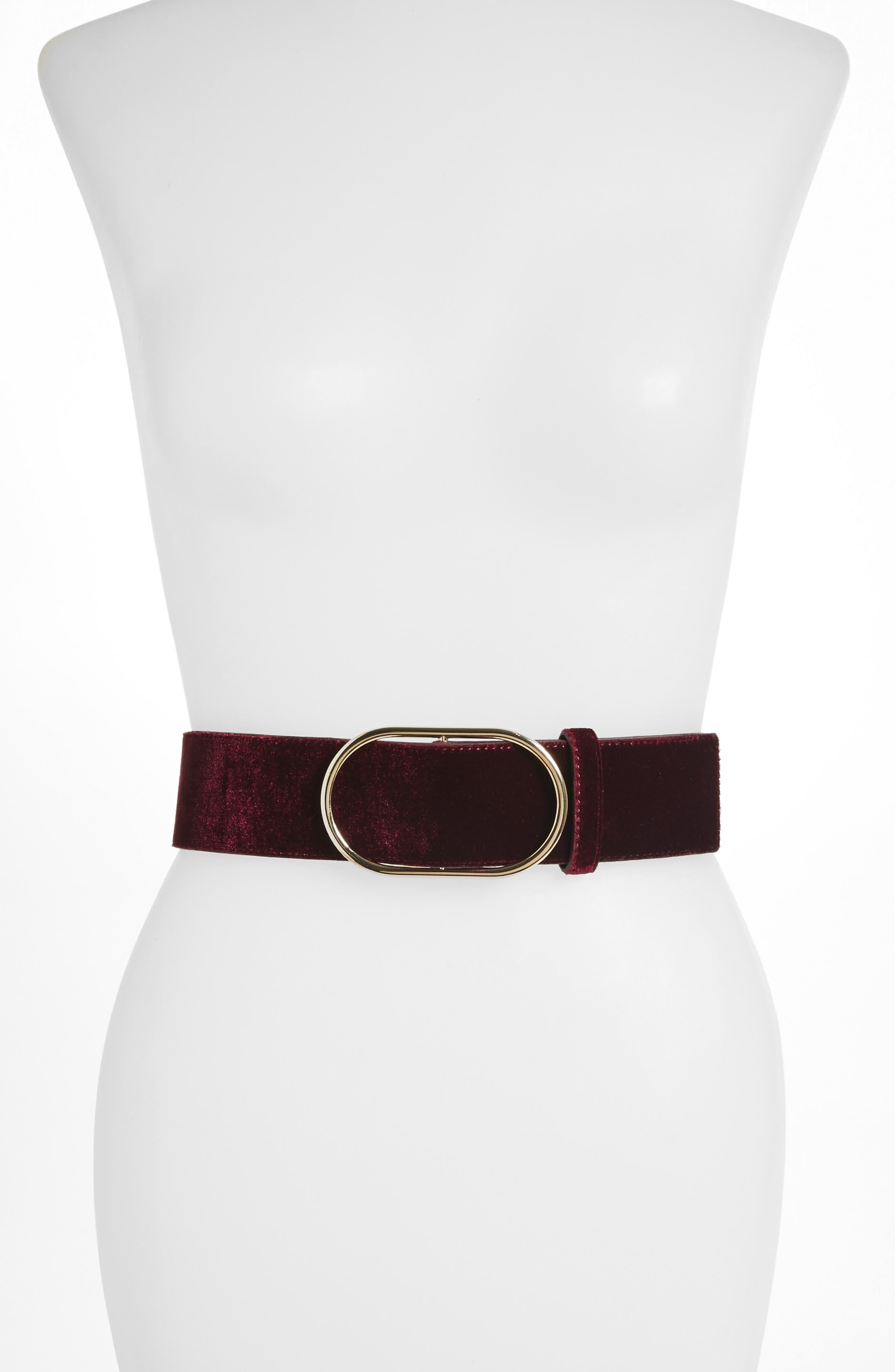 Velvet Belt,                         Main,                         color, PINOT