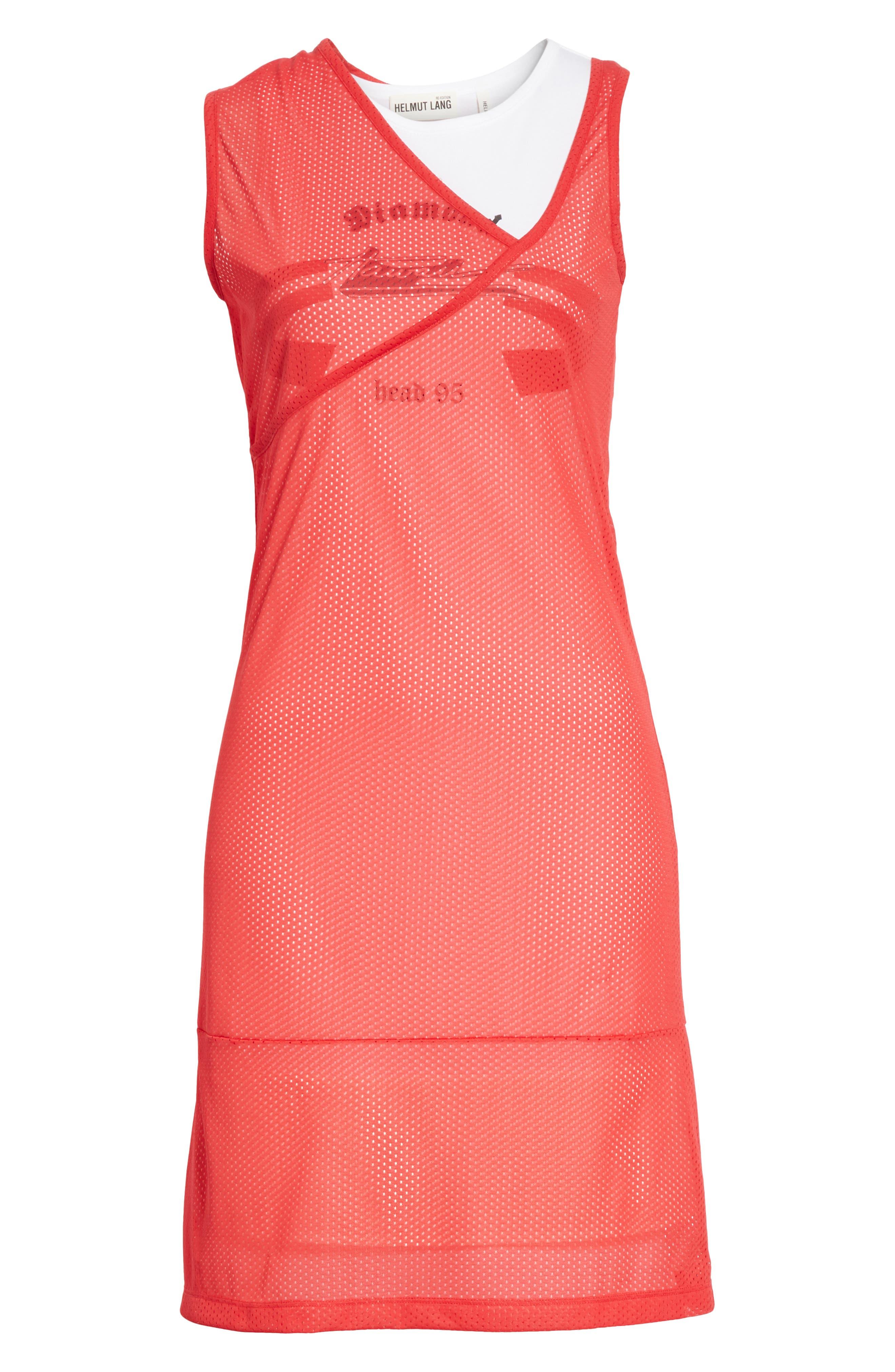 Mesh Layer Dress,                             Alternate thumbnail 6, color,                             601