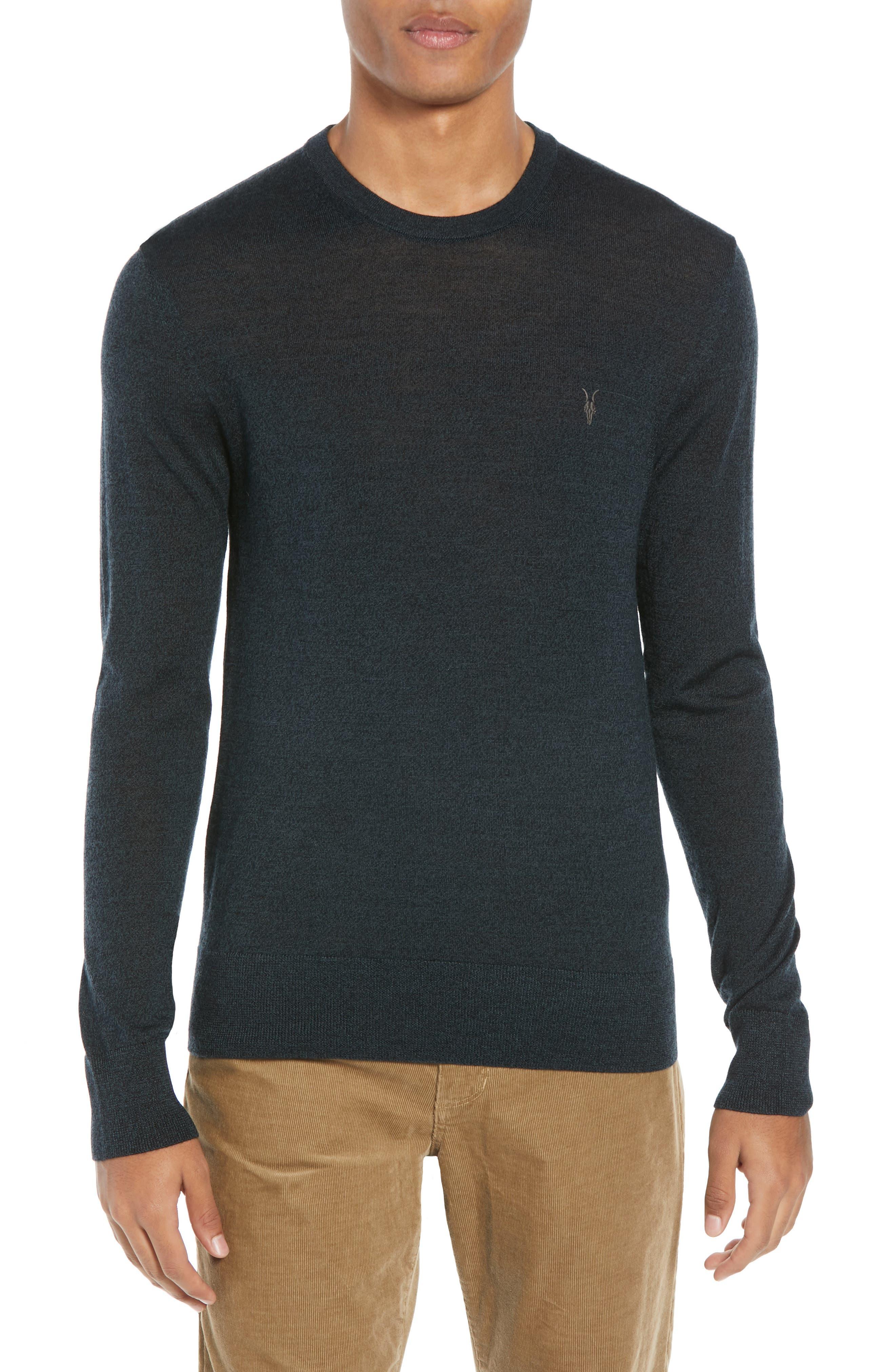 Allsaints Mode Slim Fit Merino Wool Sweater, Green