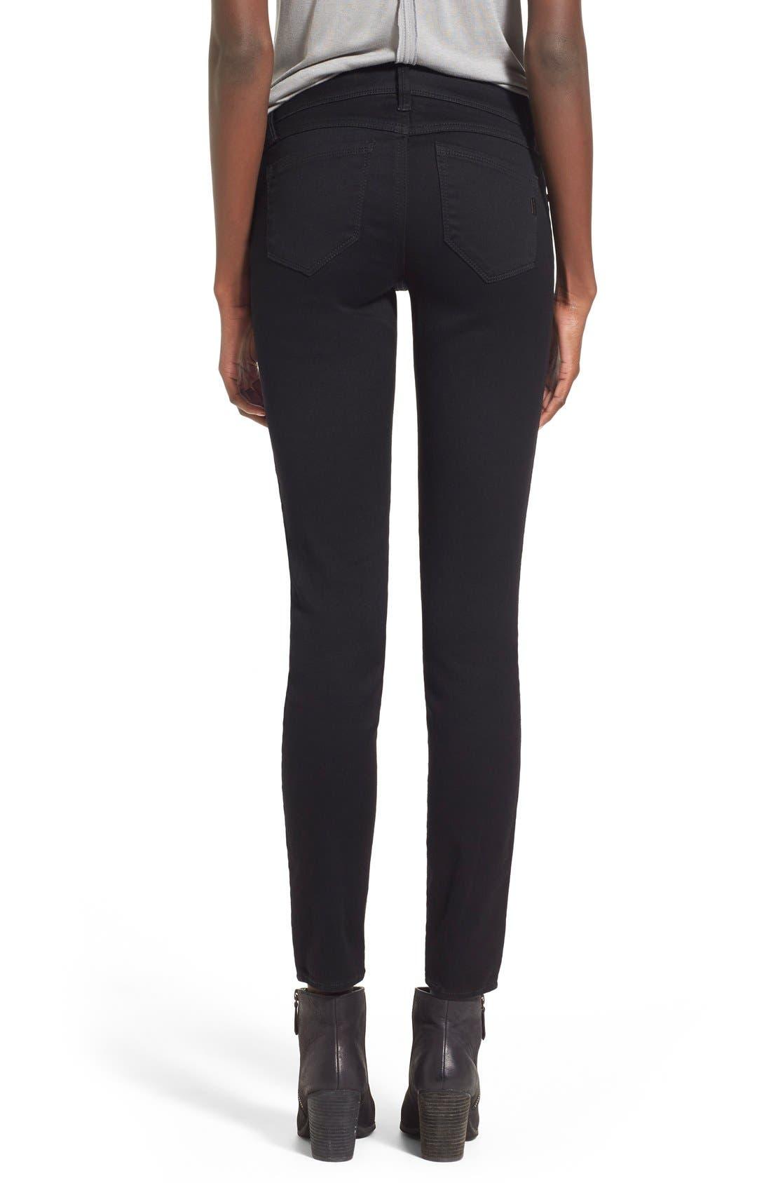 Butter Skinny Jeans,                             Alternate thumbnail 5, color,                             BLACK
