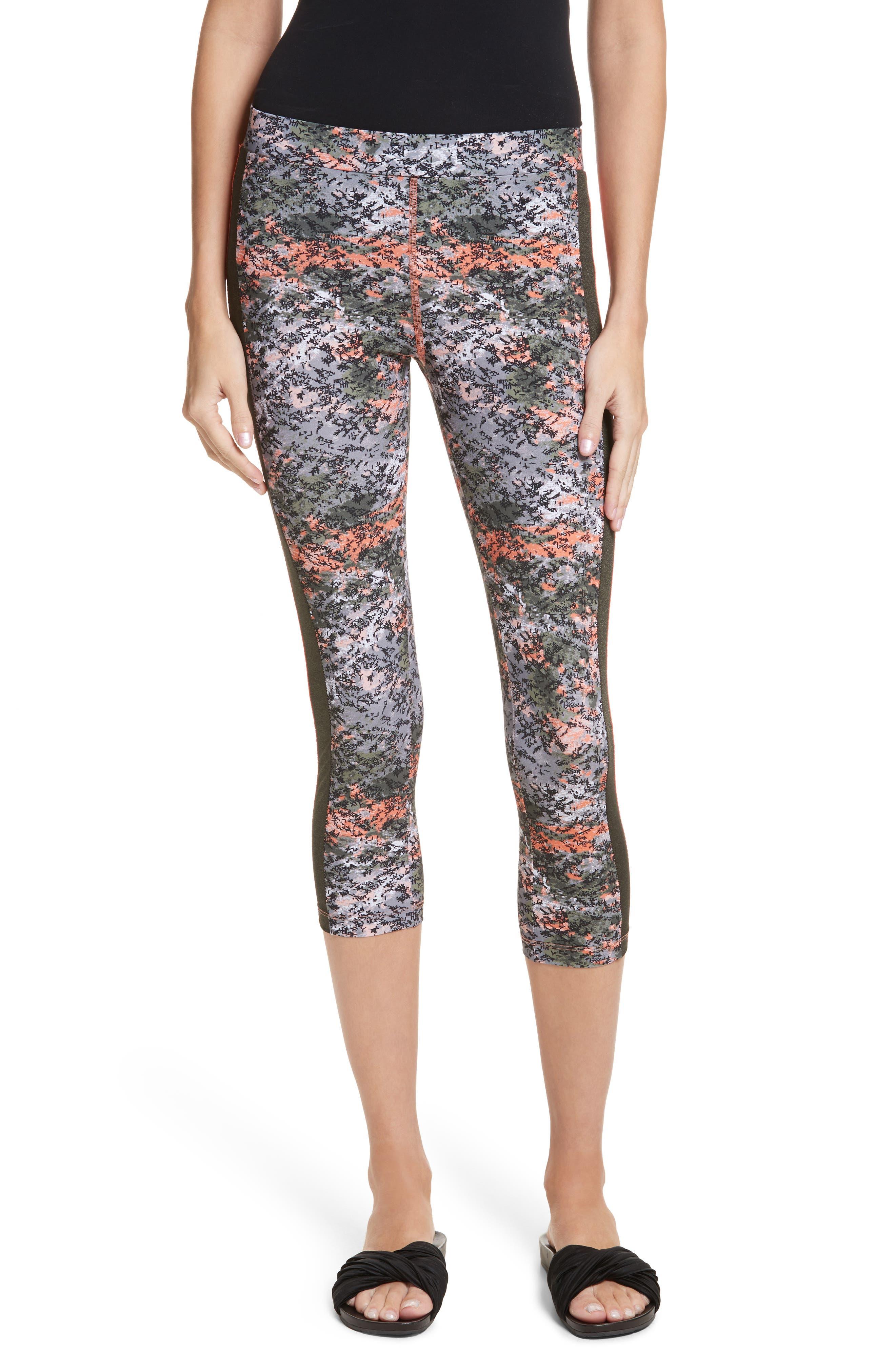 Print Crop Leggings,                         Main,                         color,
