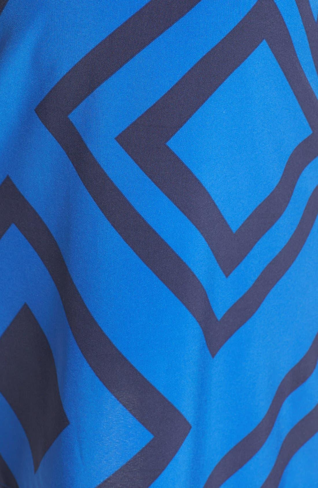 'Erin' Print Maternity/Nursing Shirtdress,                             Alternate thumbnail 5, color,                             BLUE DIAMOND