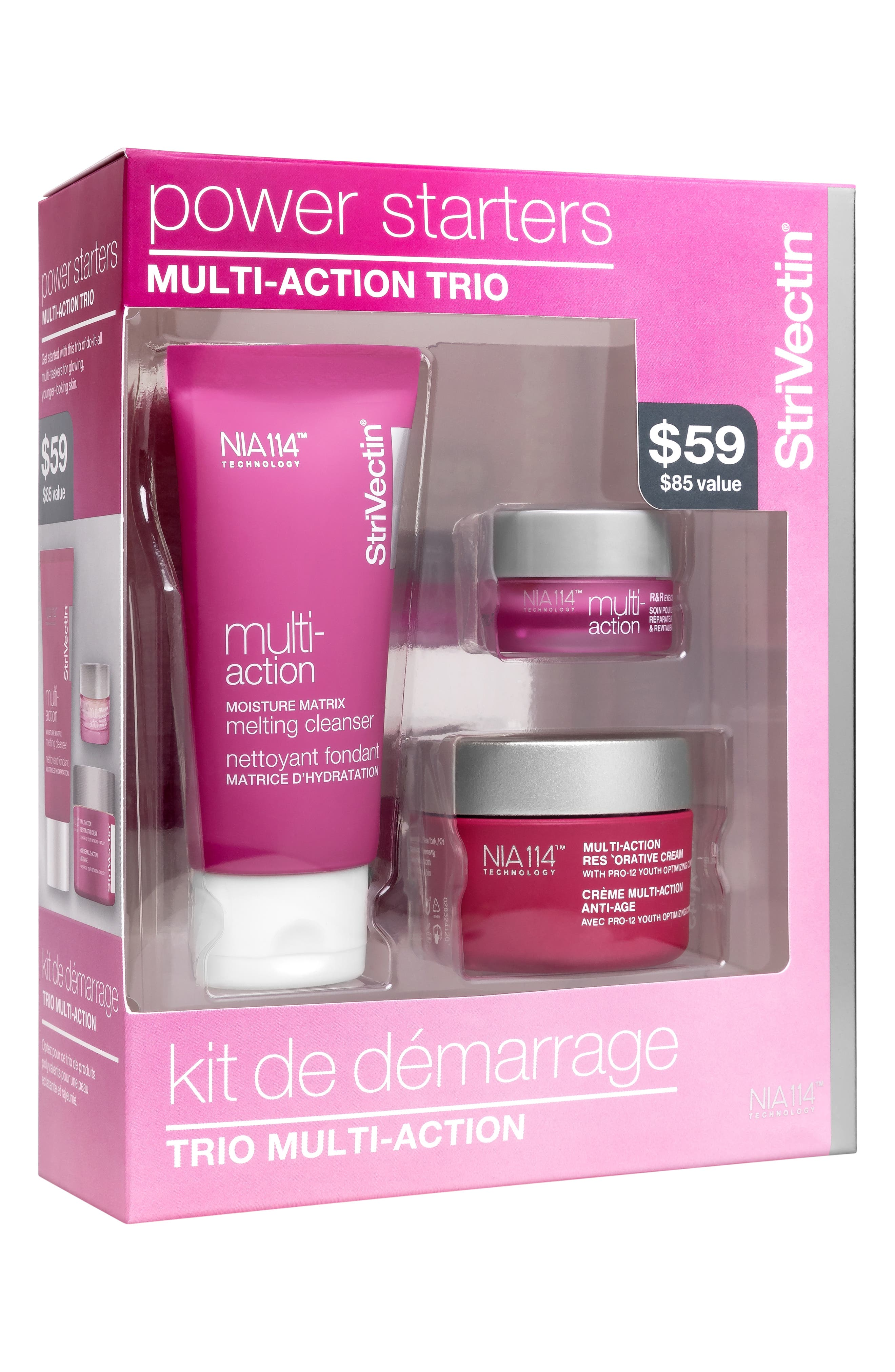 StriVectin Power Starter Multi-Action Kit,                             Main thumbnail 1, color,                             NO COLOR