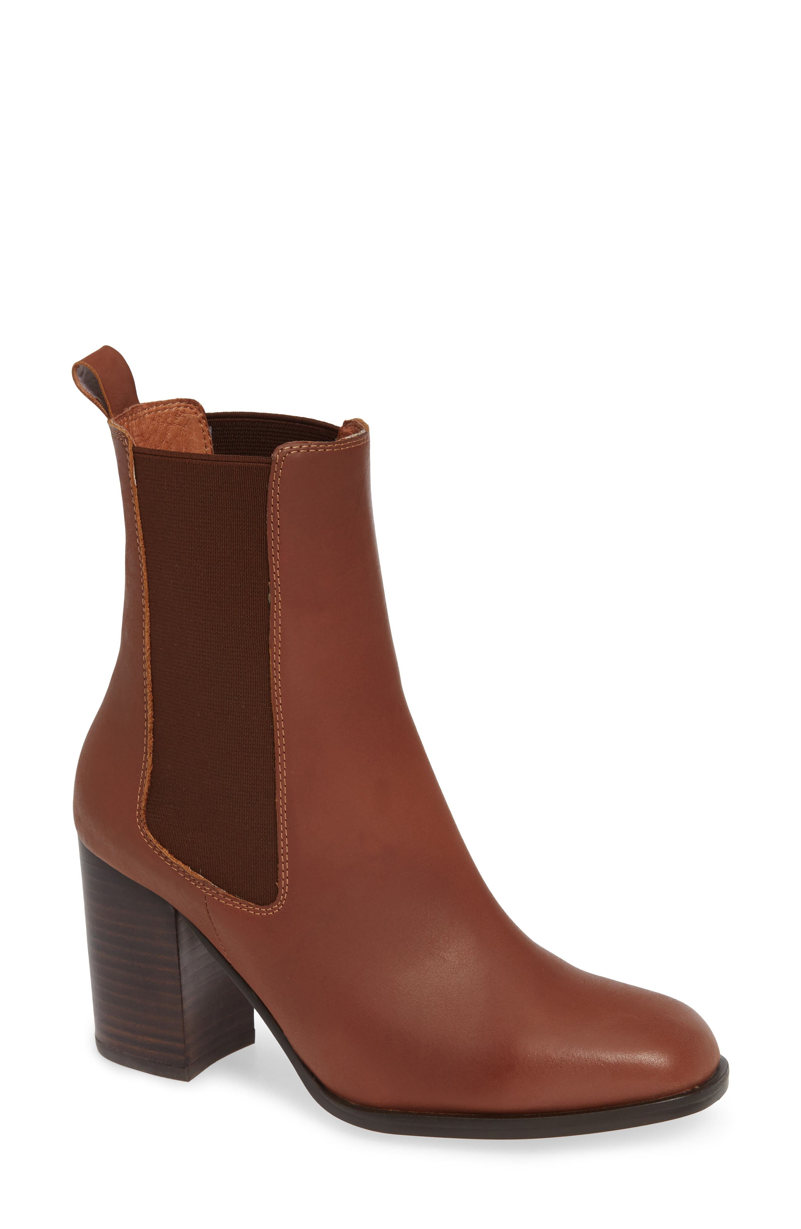 ALIAS MAE Nyala Chelsea Bootie in Tan Leather