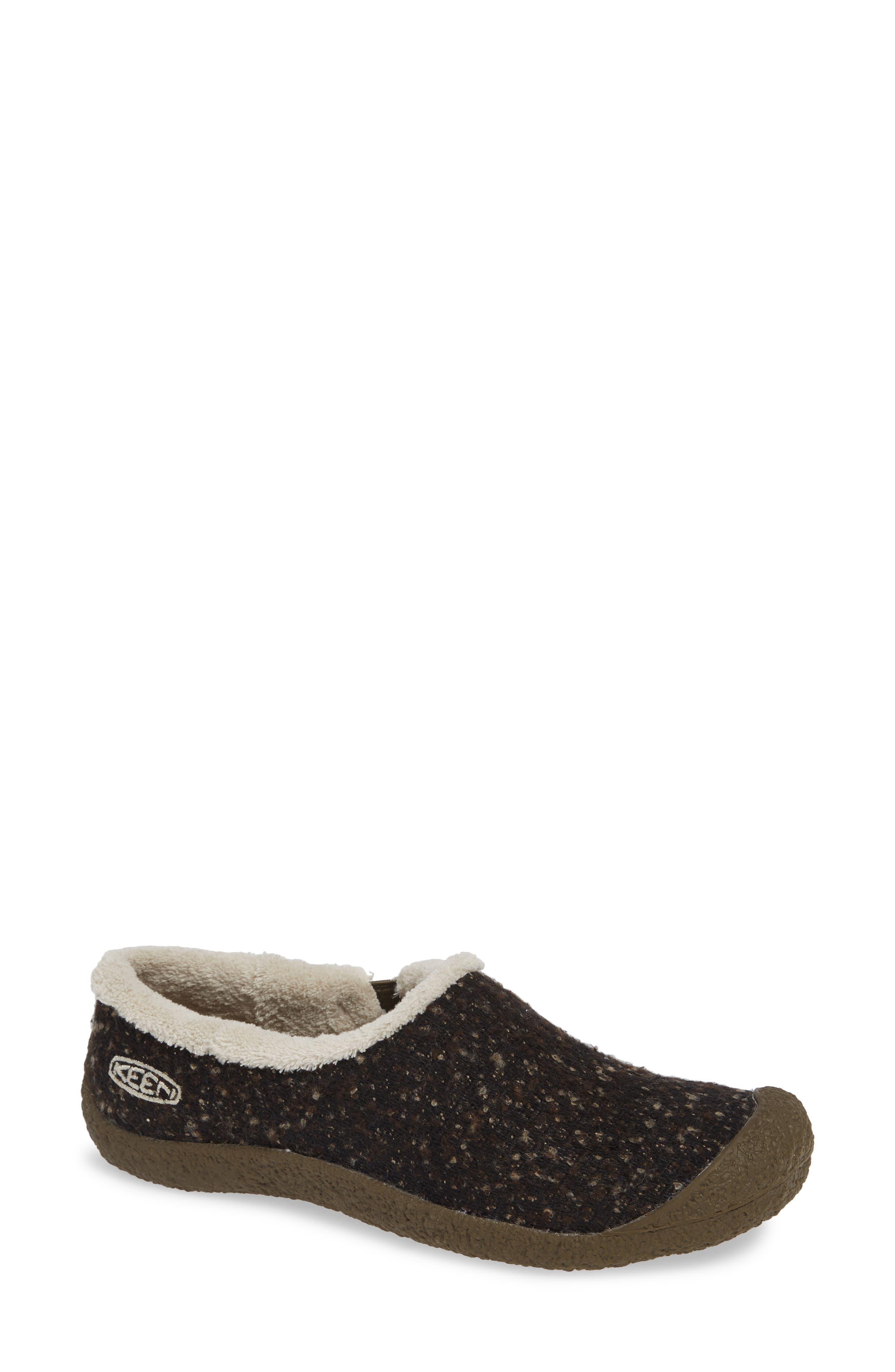 Keen Howser Round Toe Wool Slip-On, Brown