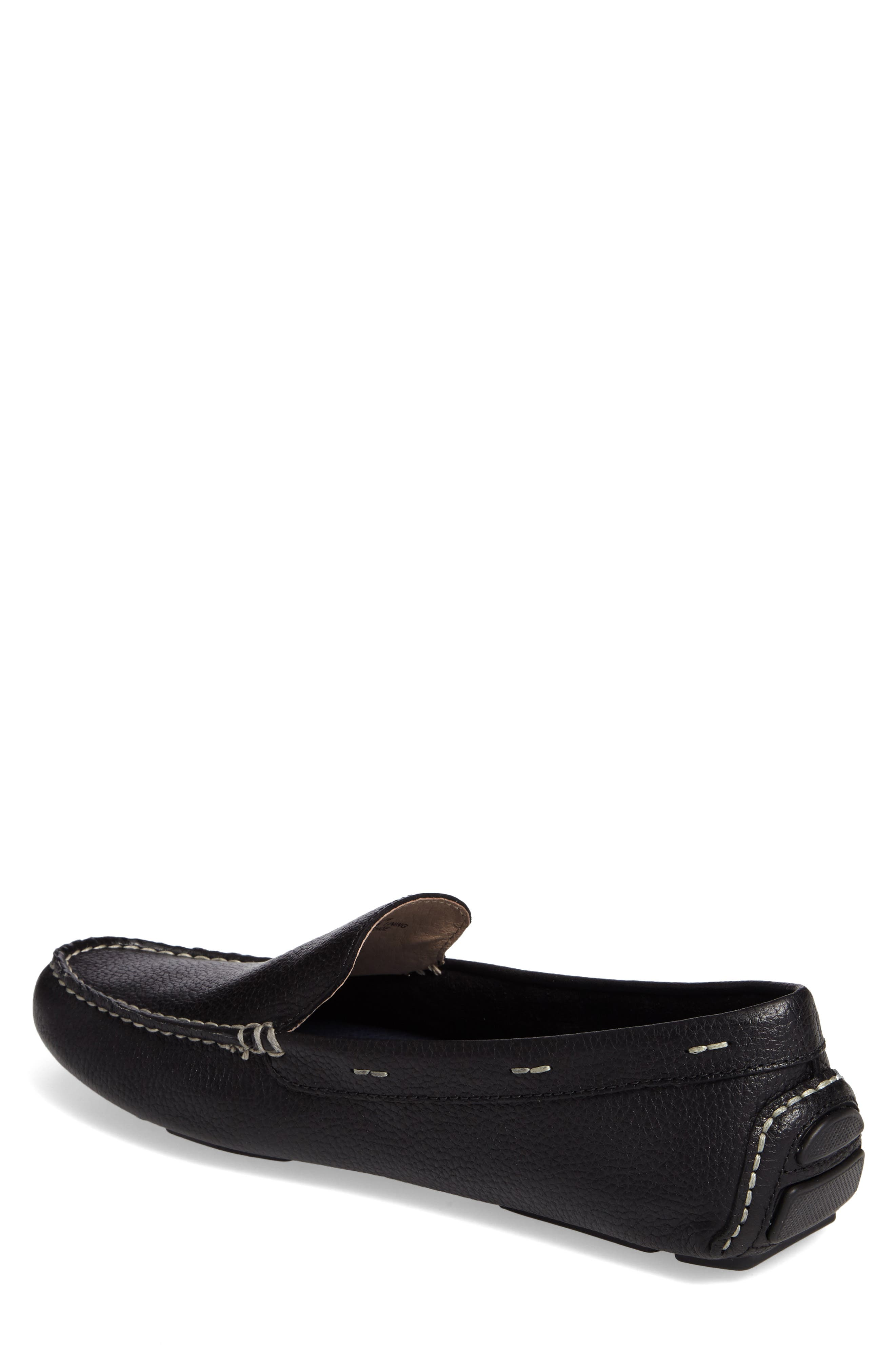 Pagota Driving Loafer,                             Alternate thumbnail 2, color,                             BLACK LEATHER