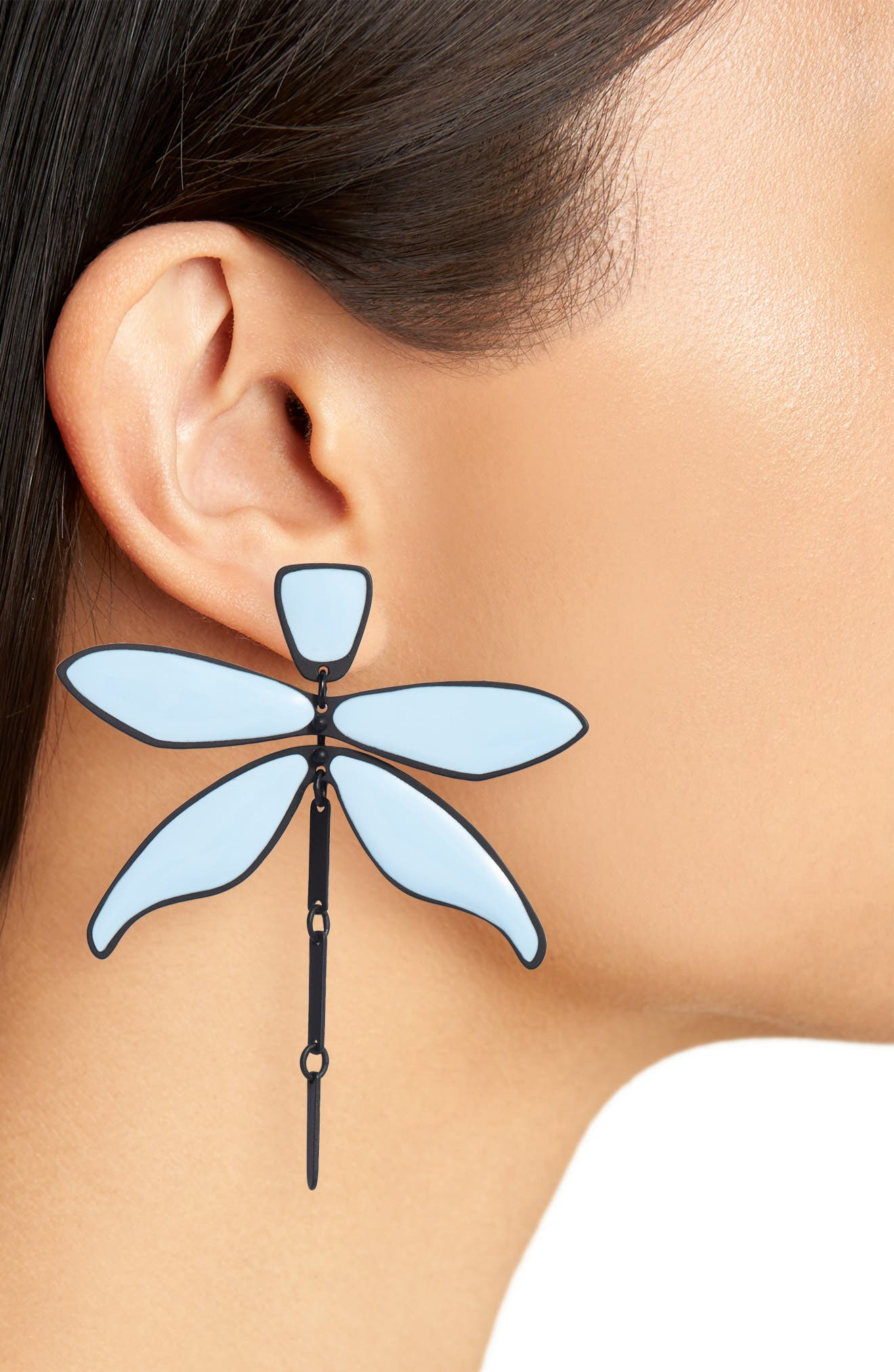 Articulated Dragonfly Earrings,                             Alternate thumbnail 5, color,