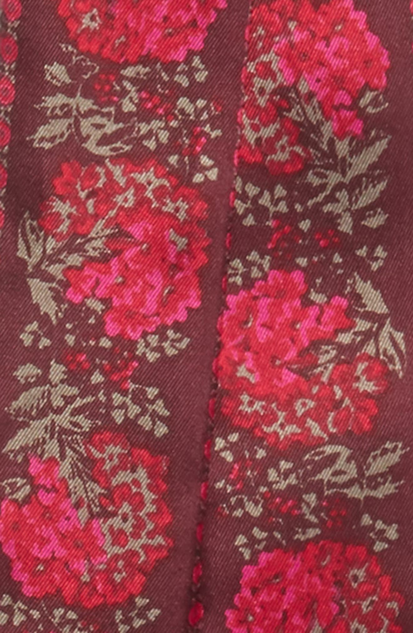 Floral Silk Mini Scarf,                             Alternate thumbnail 8, color,