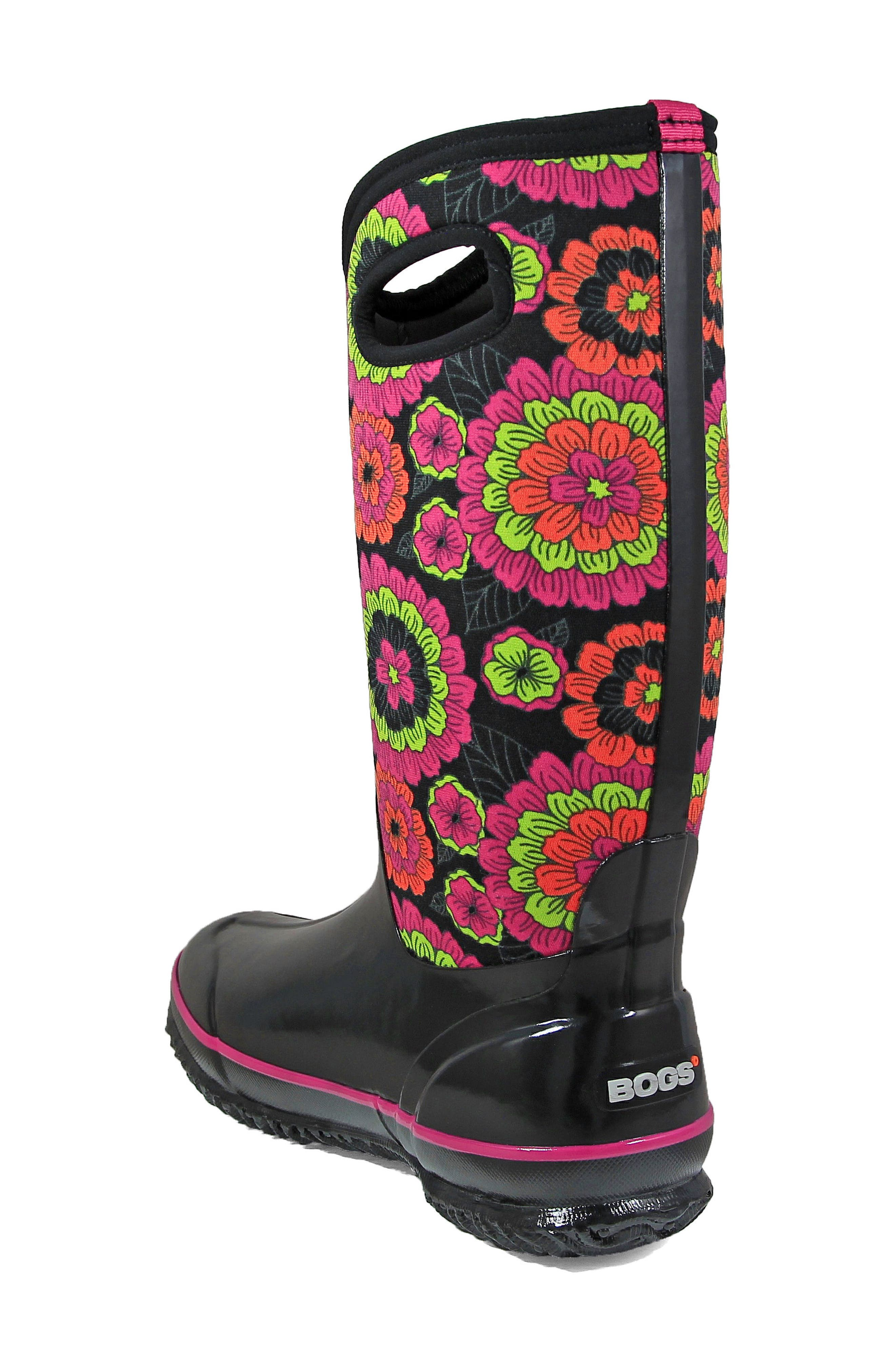 Classic Pansies Waterproof Insulated Boot,                             Alternate thumbnail 2, color,                             010
