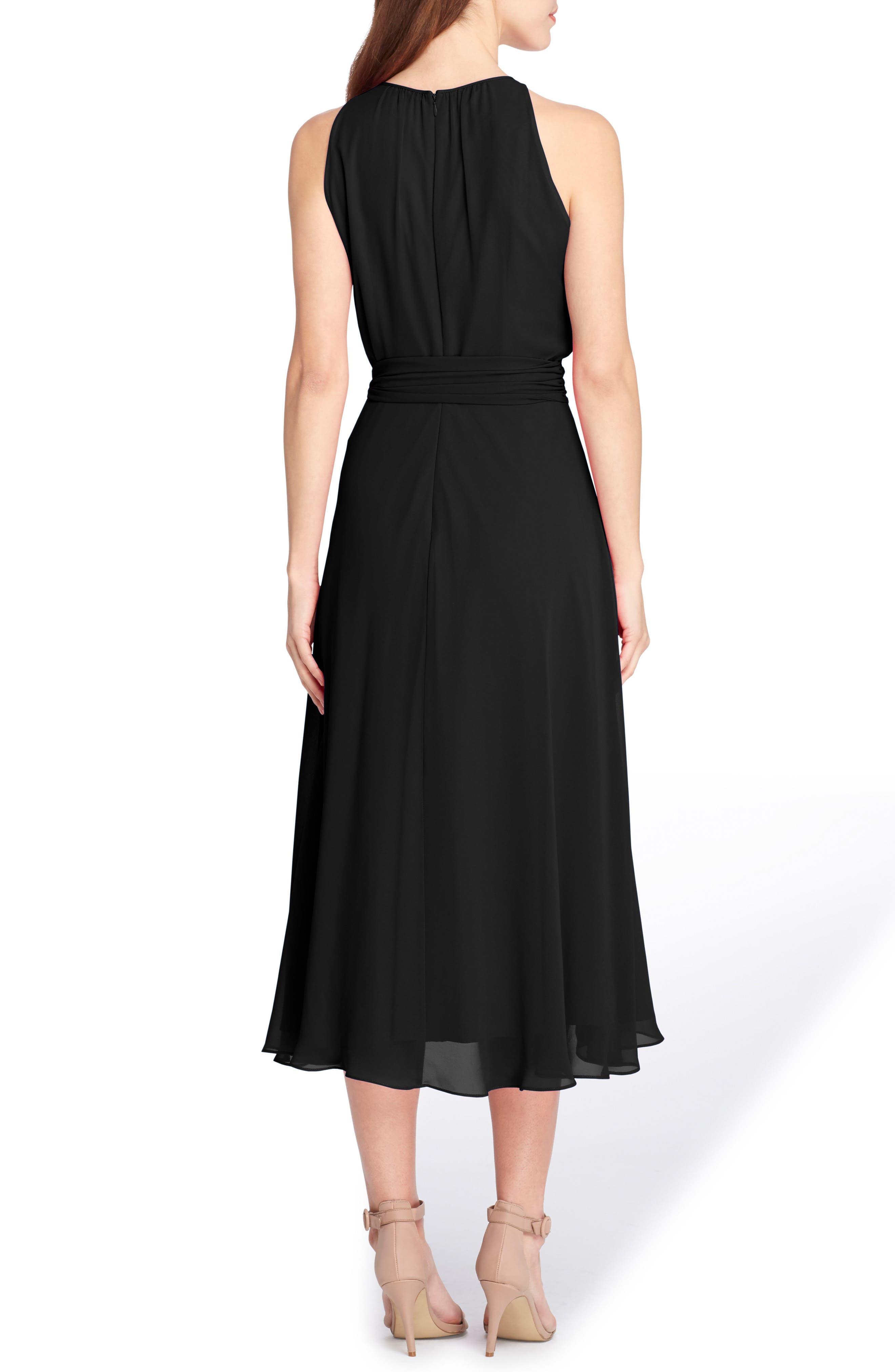 Sleeveless Chiffon Midi Dress,                             Alternate thumbnail 2, color,                             001