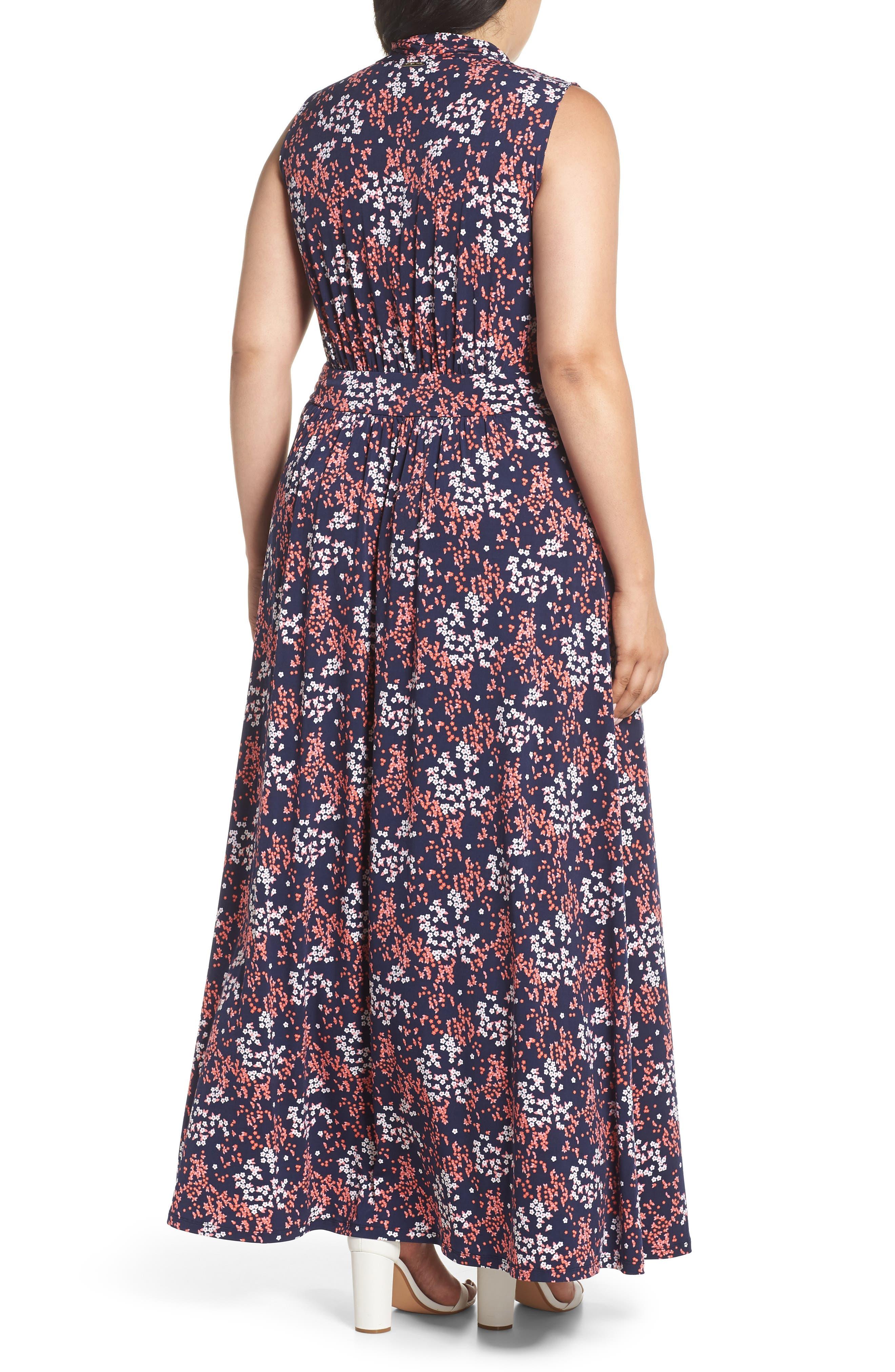Floral Print Maxi Dress,                             Alternate thumbnail 2, color,