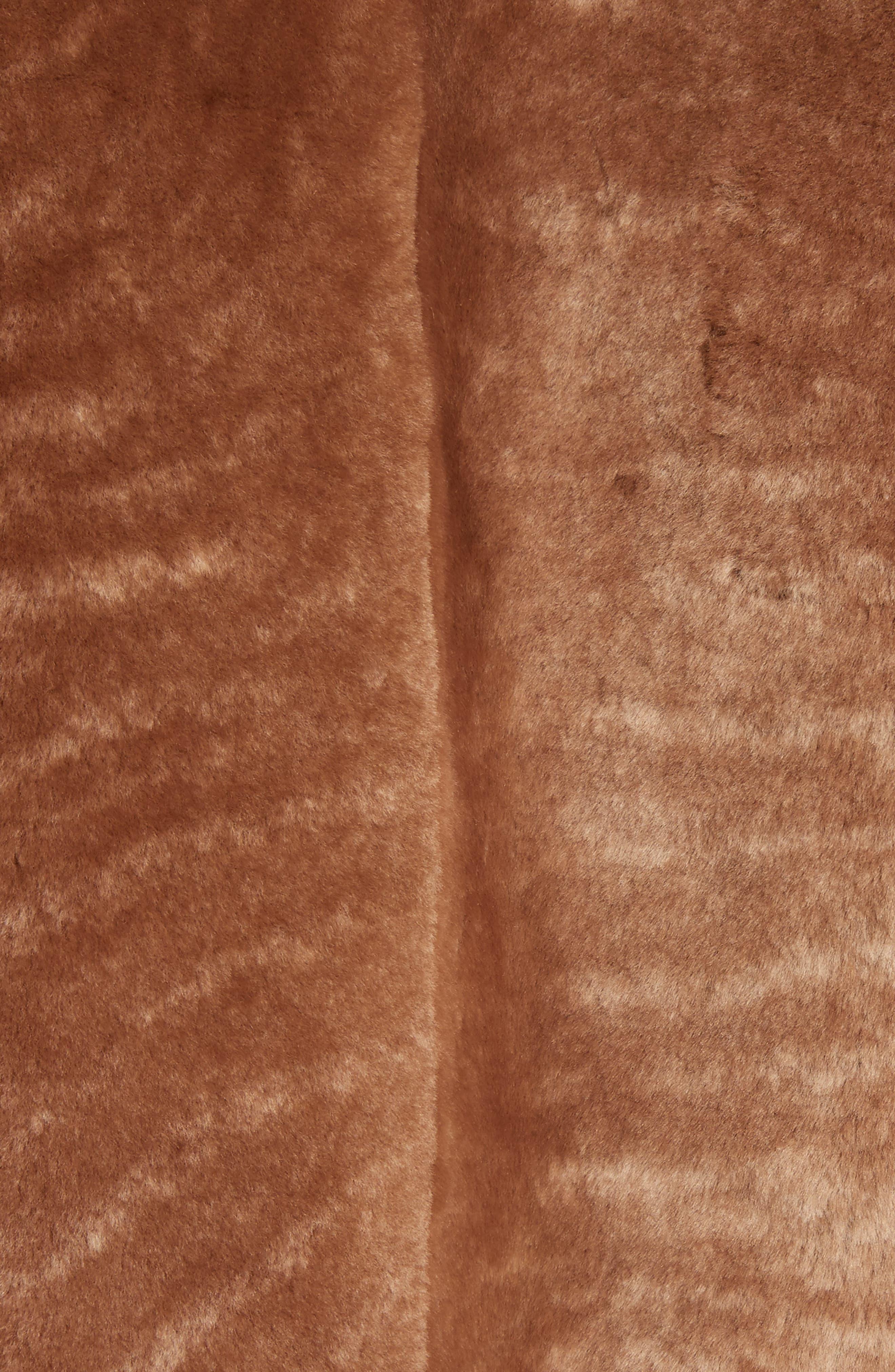 Genuine Shearling Hoodie,                             Alternate thumbnail 6, color,