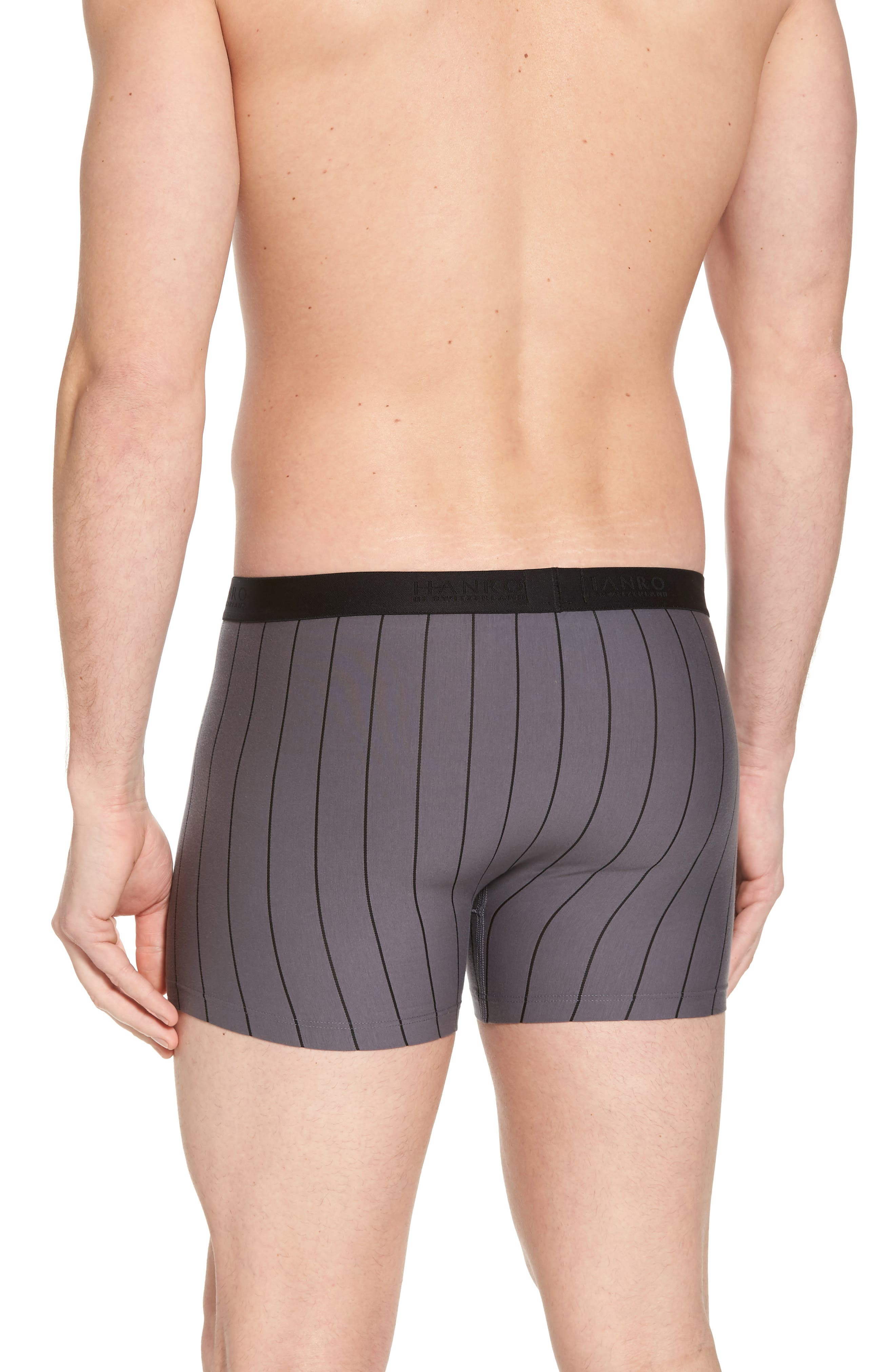 Shadow Cotton Blend Boxer Briefs,                             Alternate thumbnail 2, color,                             EBONY