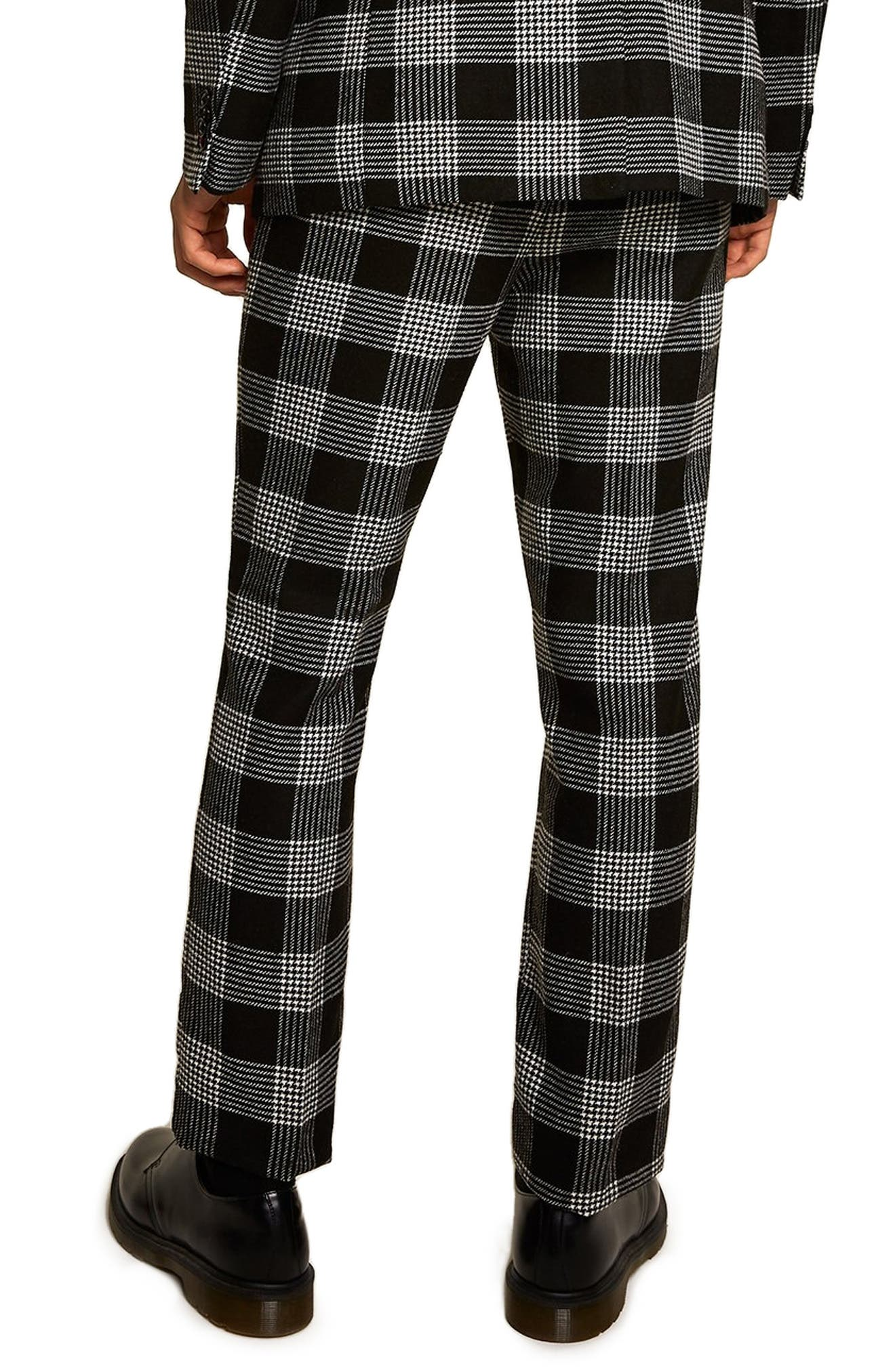 Leigh Classic Check Slim Fit Trousers,                             Alternate thumbnail 2, color,                             BLACK MULTI