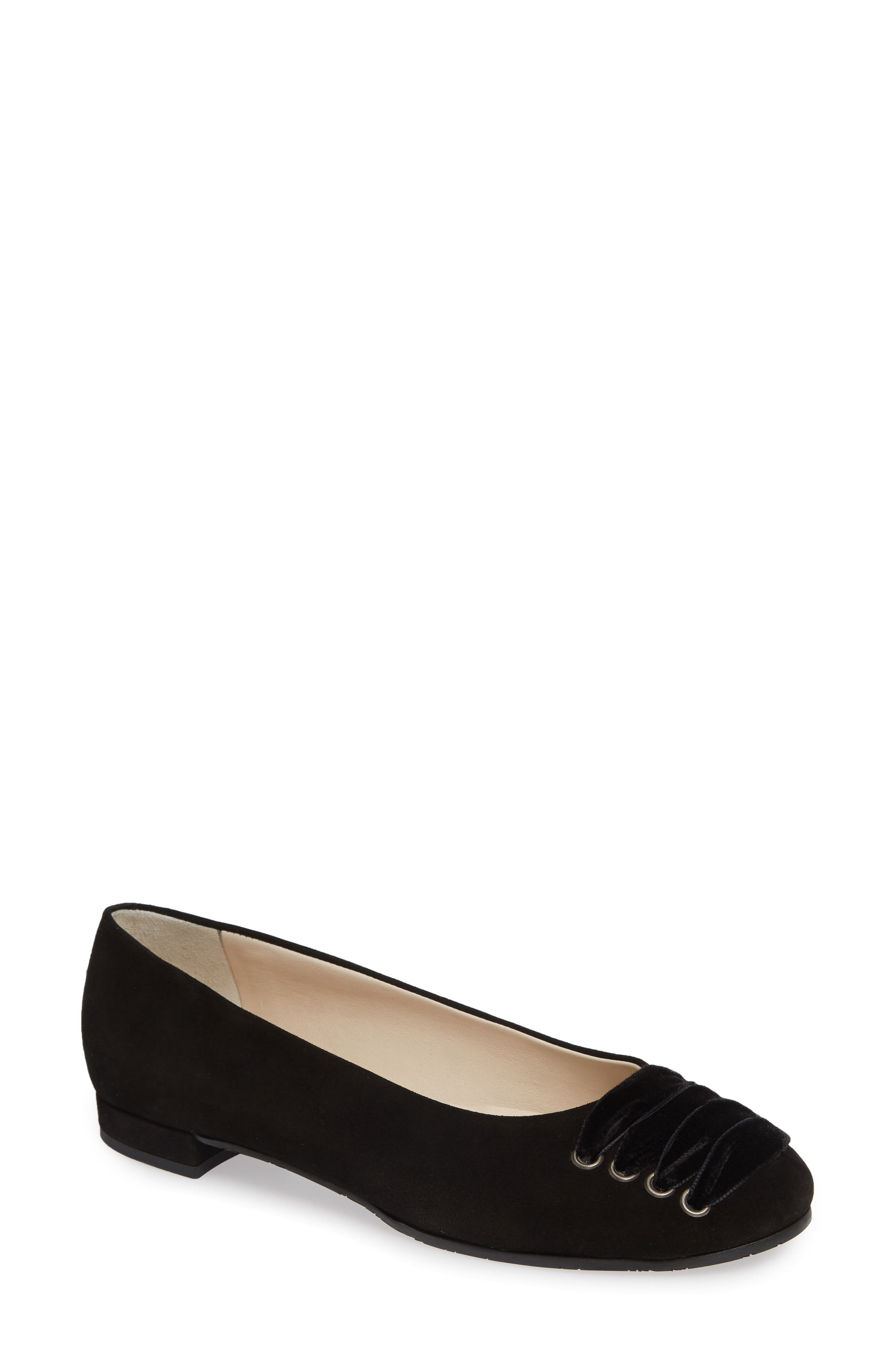 Gallena Laced Skimmer,                             Main thumbnail 1, color,                             BLACK SUEDE