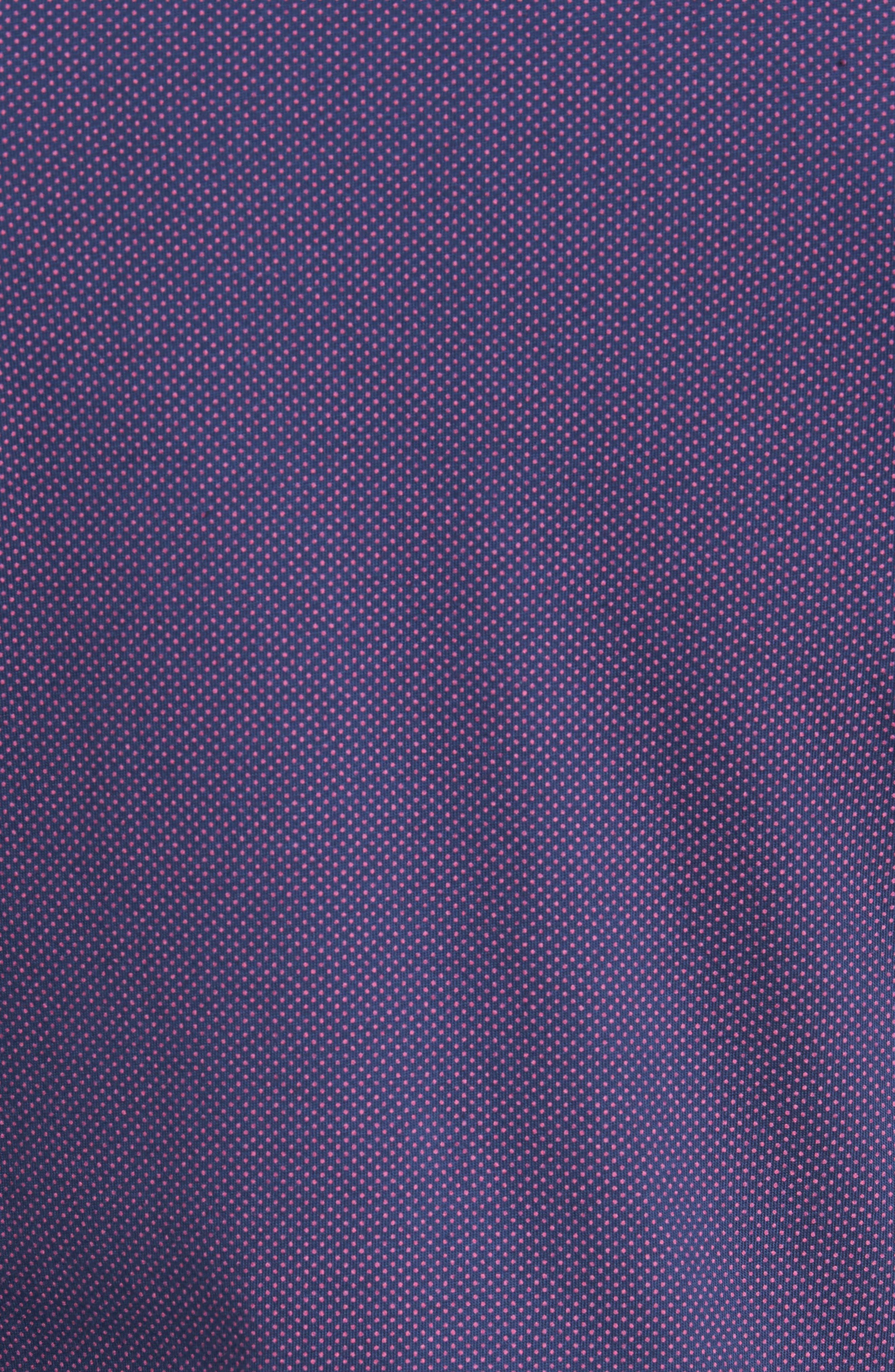 Slim Fit Micro Dot Knit Sport Shirt,                             Alternate thumbnail 5, color,                             001