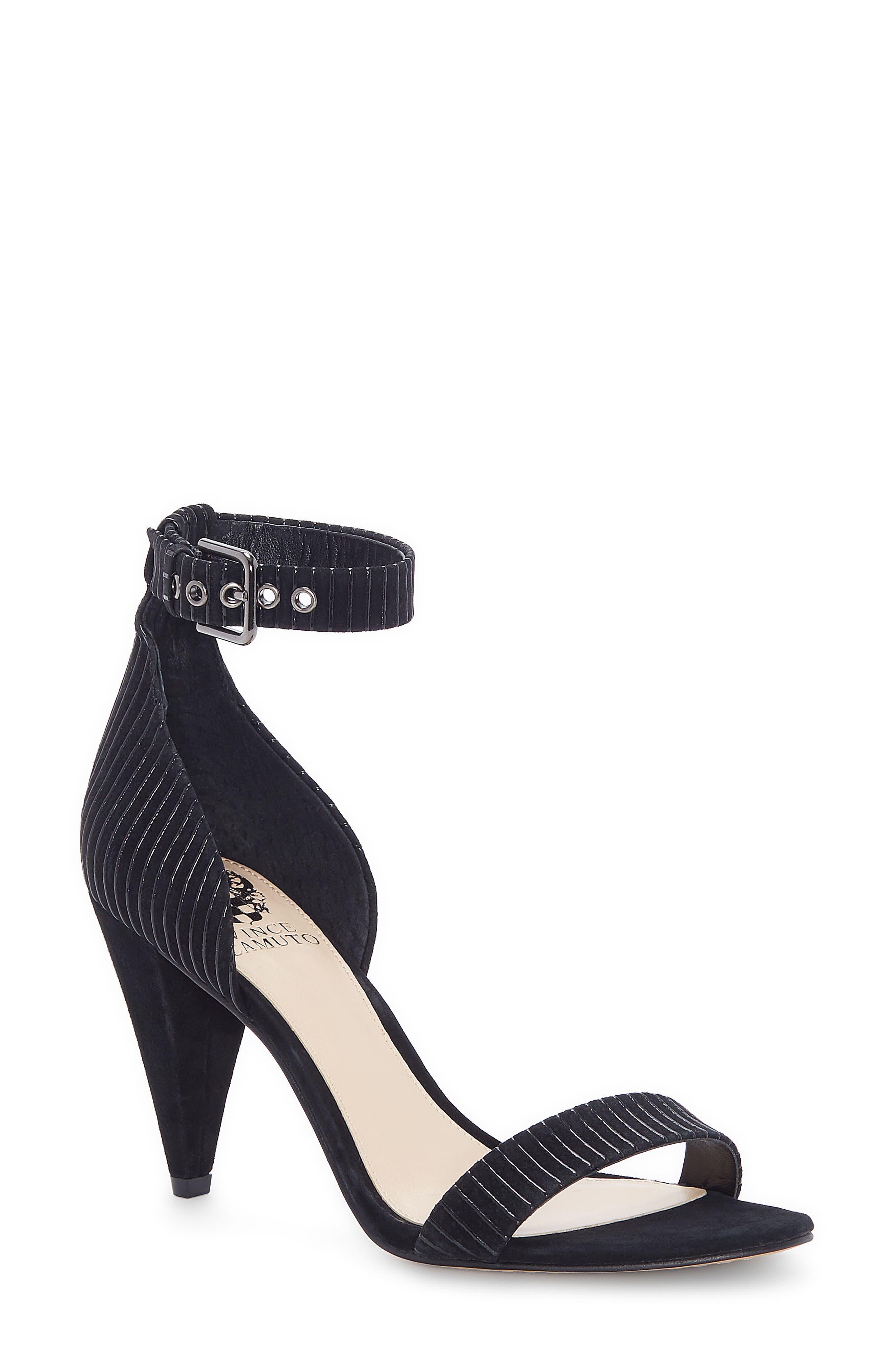 Cashane Sandal,                         Main,                         color, BLACK SUEDE