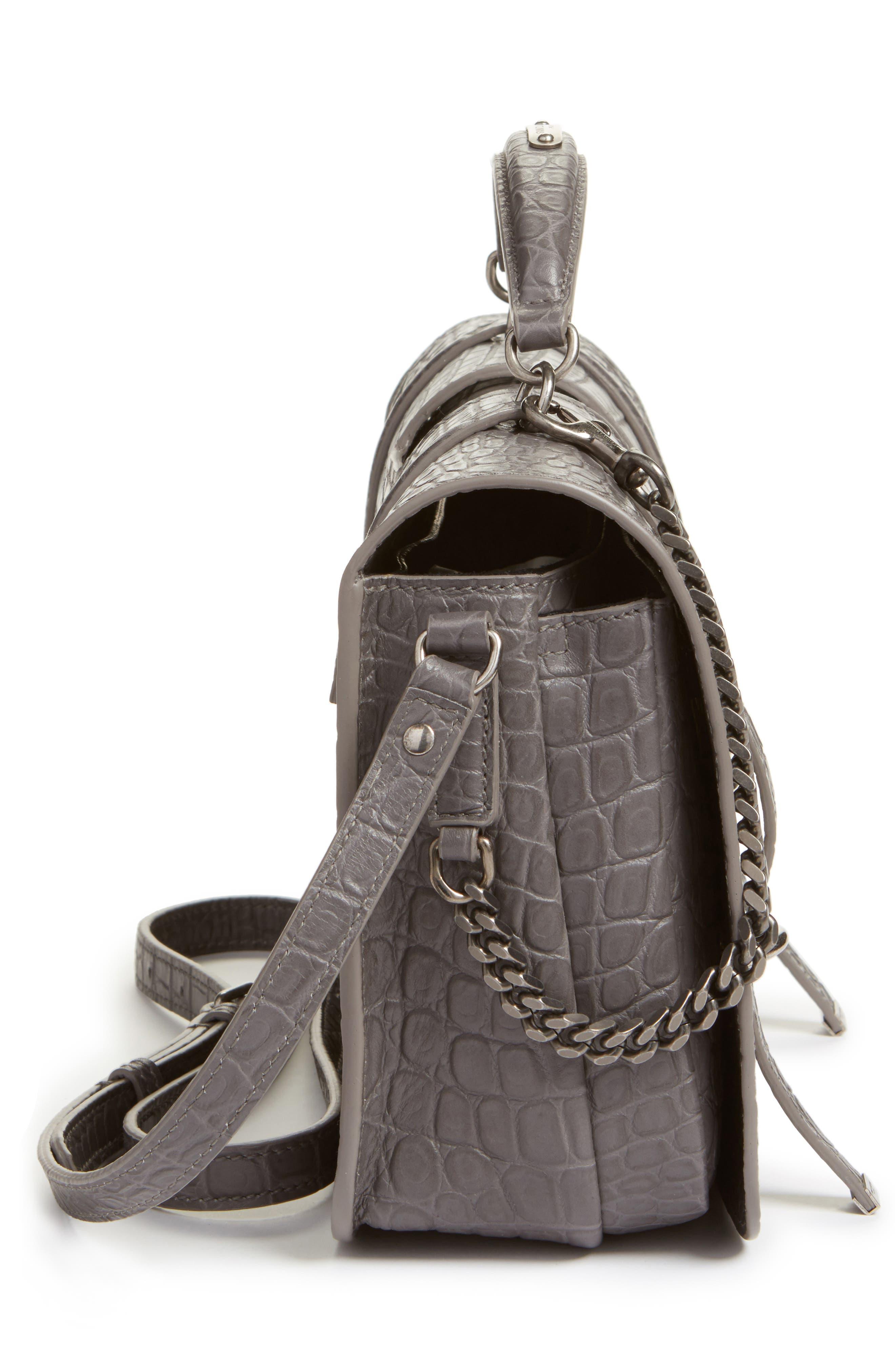 Large Leather Satchel,                             Alternate thumbnail 5, color,                             055