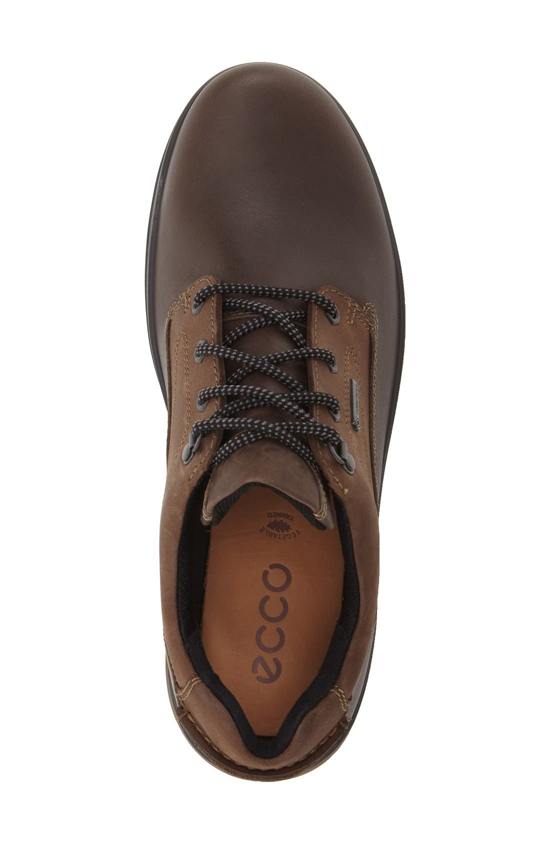 'Rugged Track GTX' Oxford,                             Alternate thumbnail 4, color,                             DARK CLAY/ COFFEE LEATHER